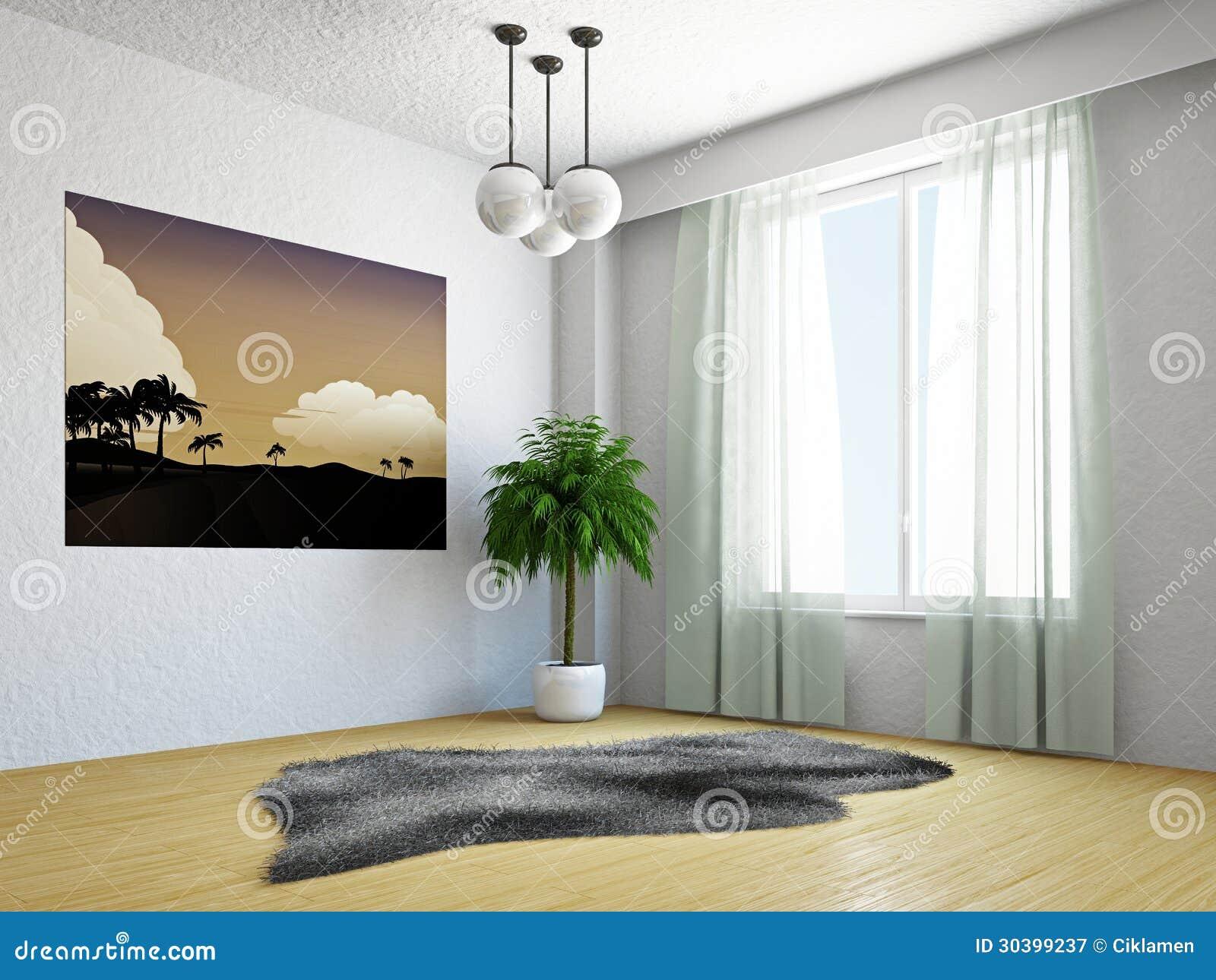 wohnzimmer mit palme lizenzfreie stockfotografie - bild: 30399237, Hause deko