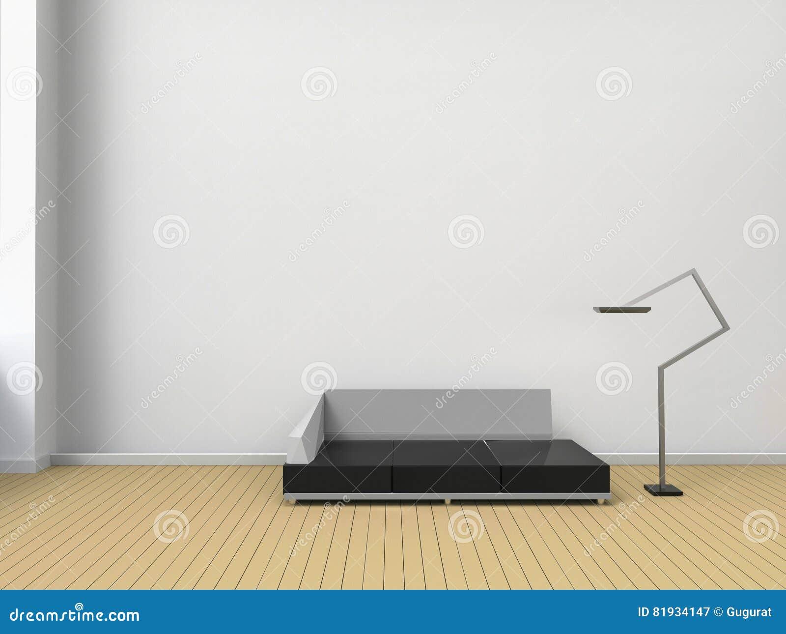 Wohnzimmer Modern Und Stühle Zeitgenössisch In Der Minimalen Art Der ...