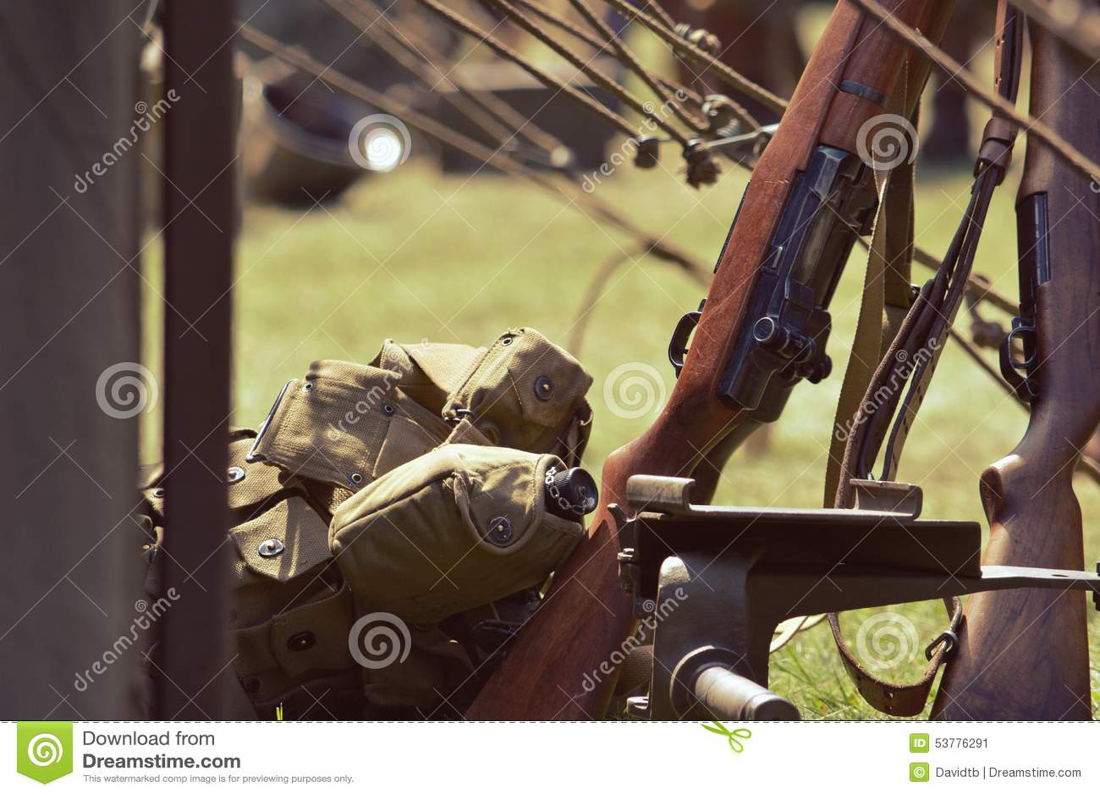 Wojskowych plecaki i pistolety