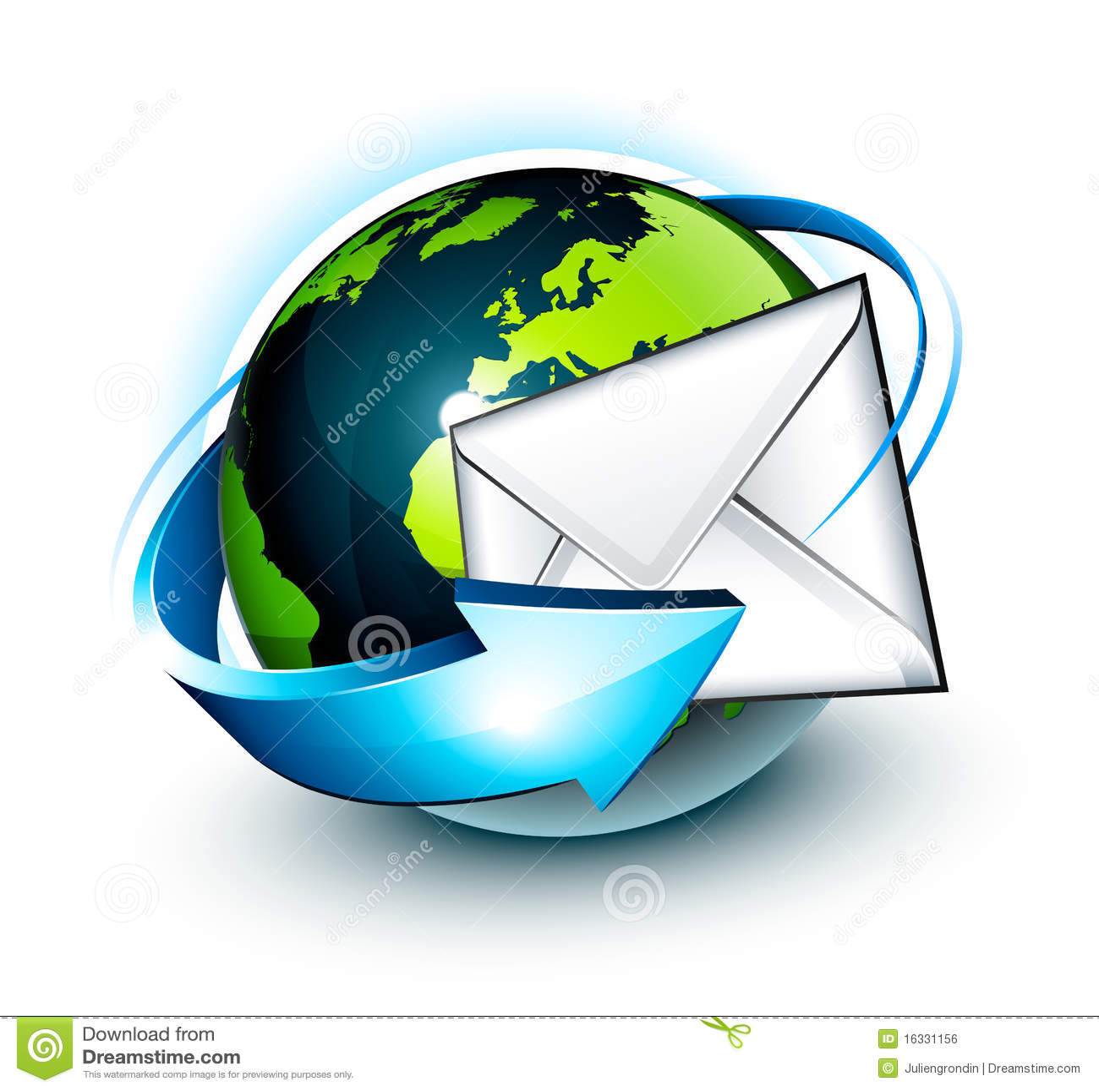 Wokoło emaila kuli ziemskiej światu