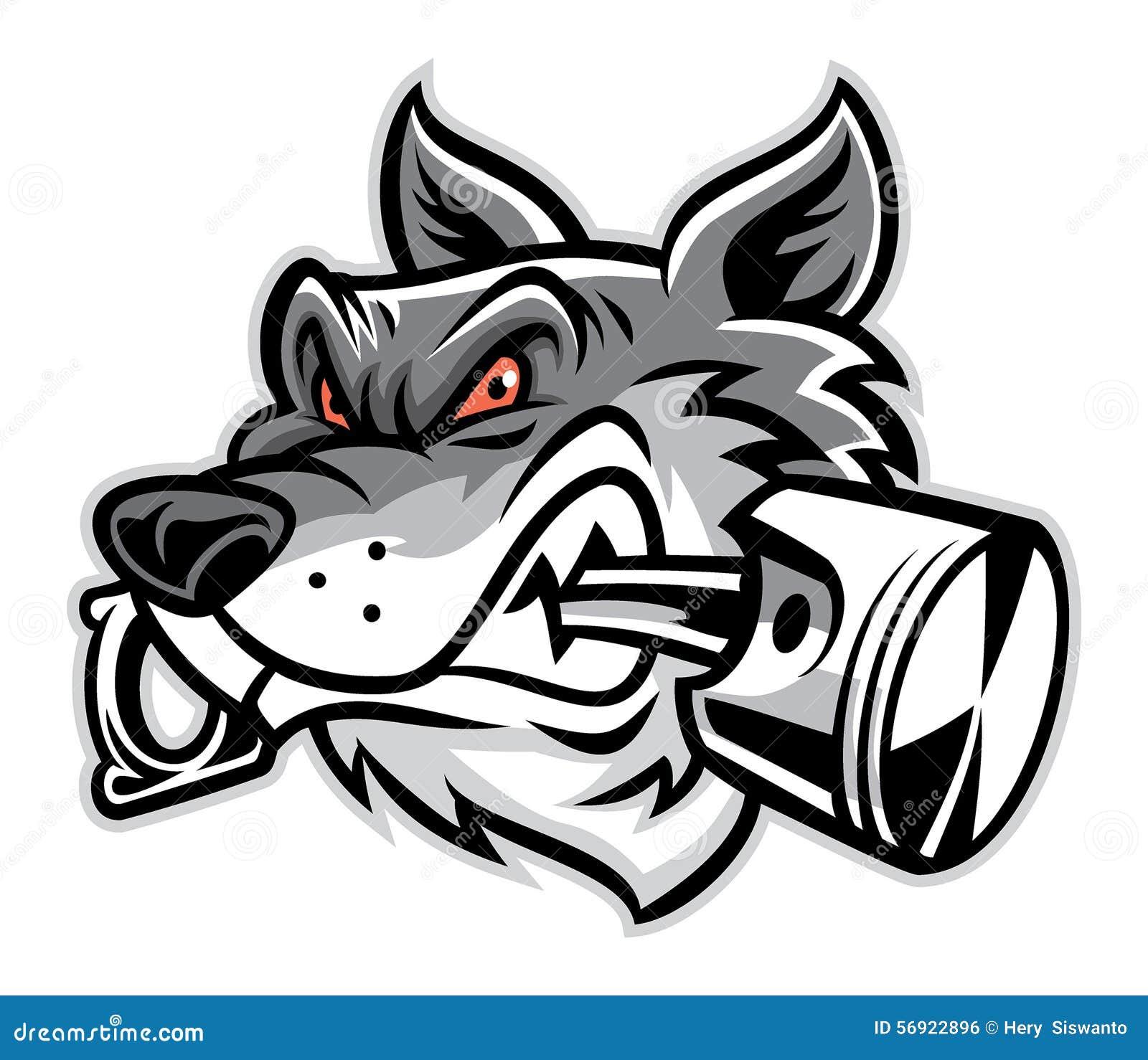 Wolf Bite The Piston Stock Vector Illustration Of Engine 56922896