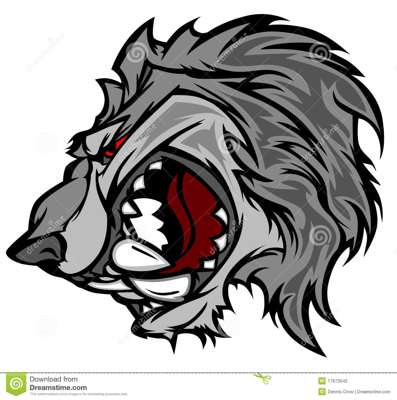 Wolf Cartoon Mascot Vector Logo Stock Photography - Image: 17673542