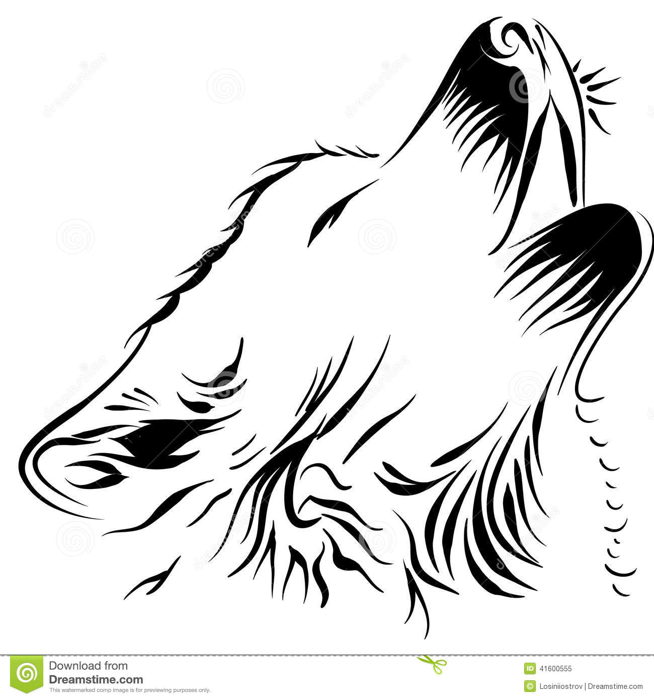 wolf stock vector image 41600555