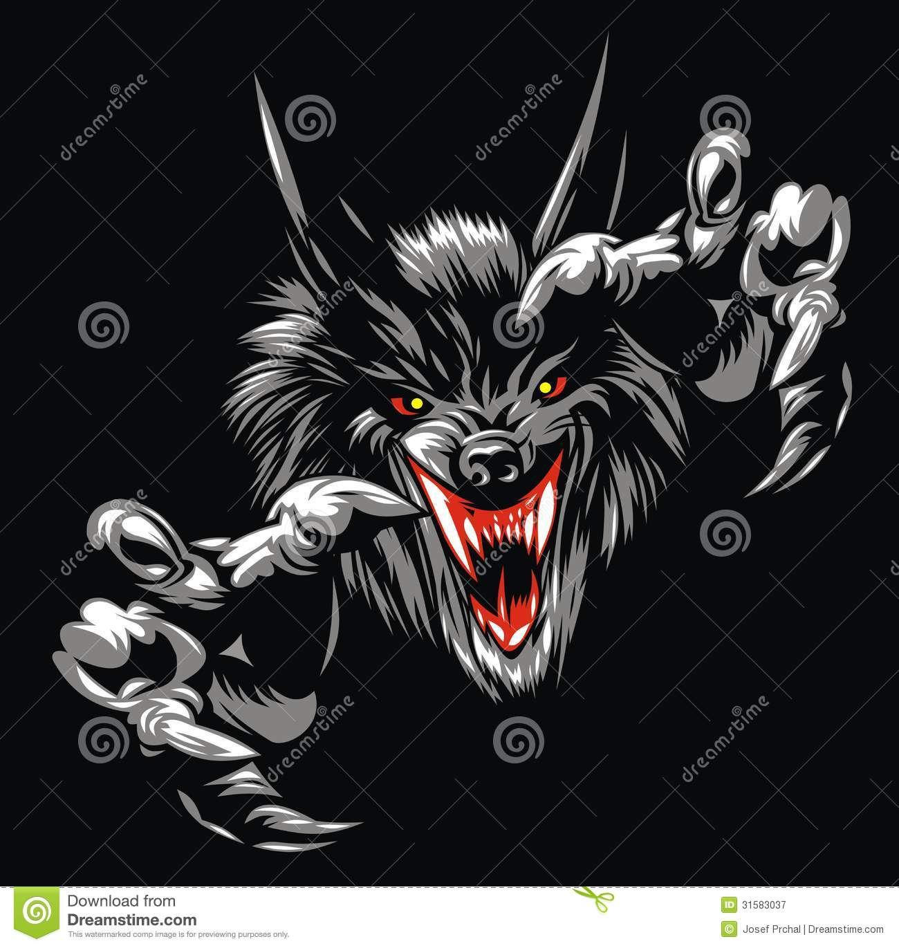 wolf devil royalty free stock photography image 31583037