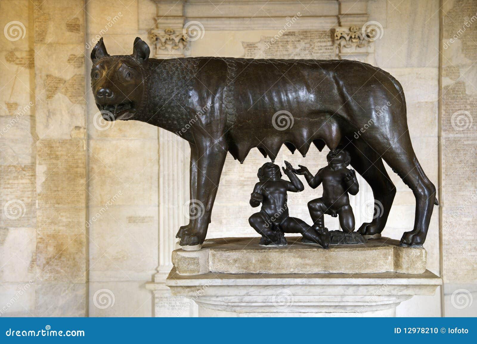 Wolf för skulptur för capitolineremusromulus