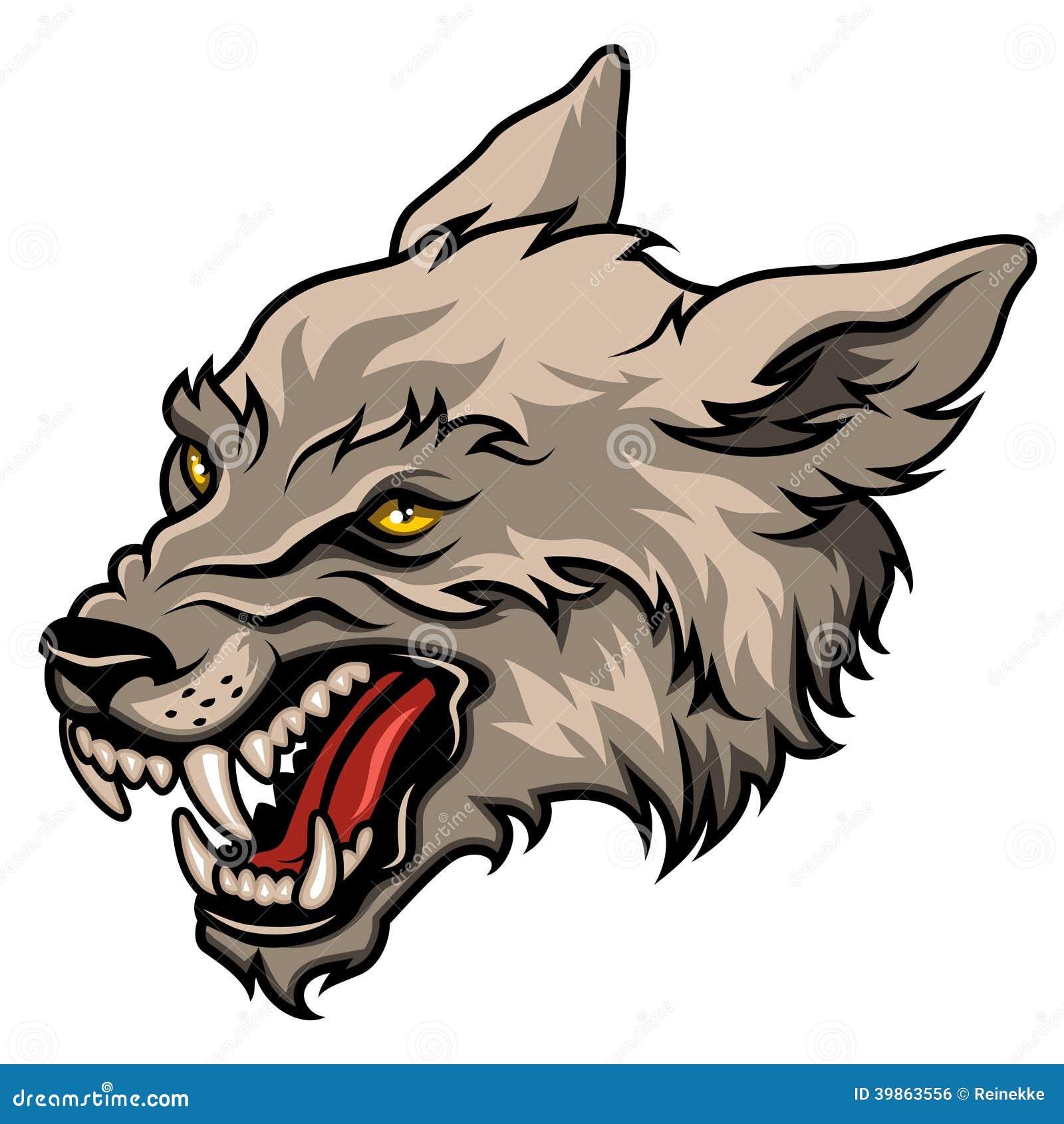Wolf Head Stock Vector - Image: 39863556