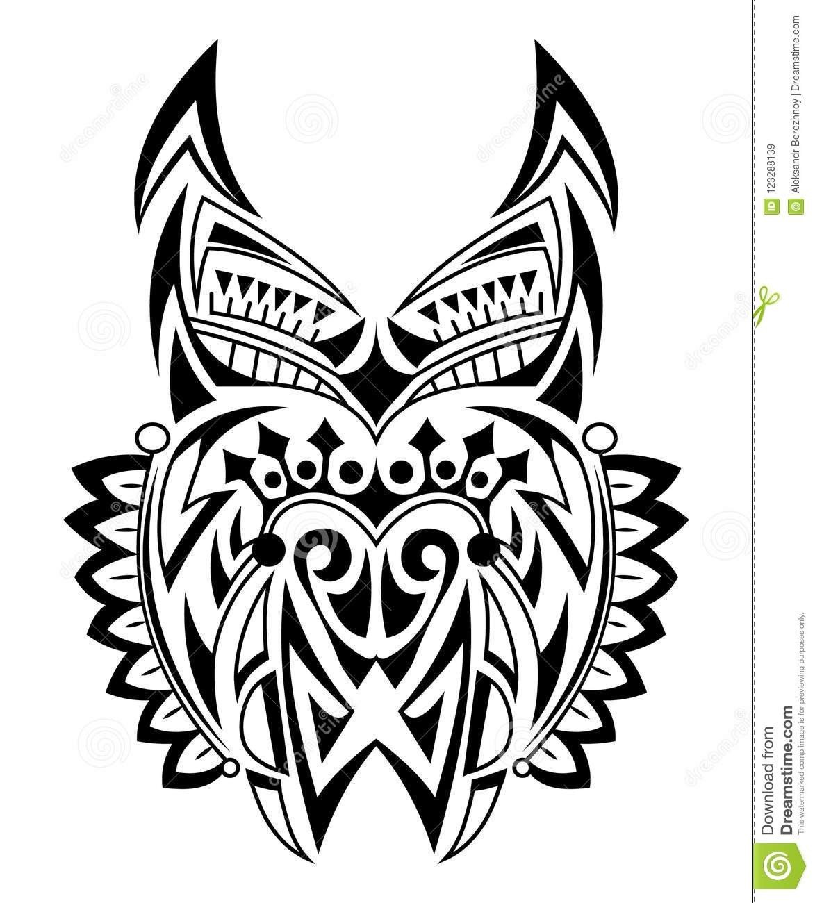 Wolf Head Black And White Stock Vector Illustration Of