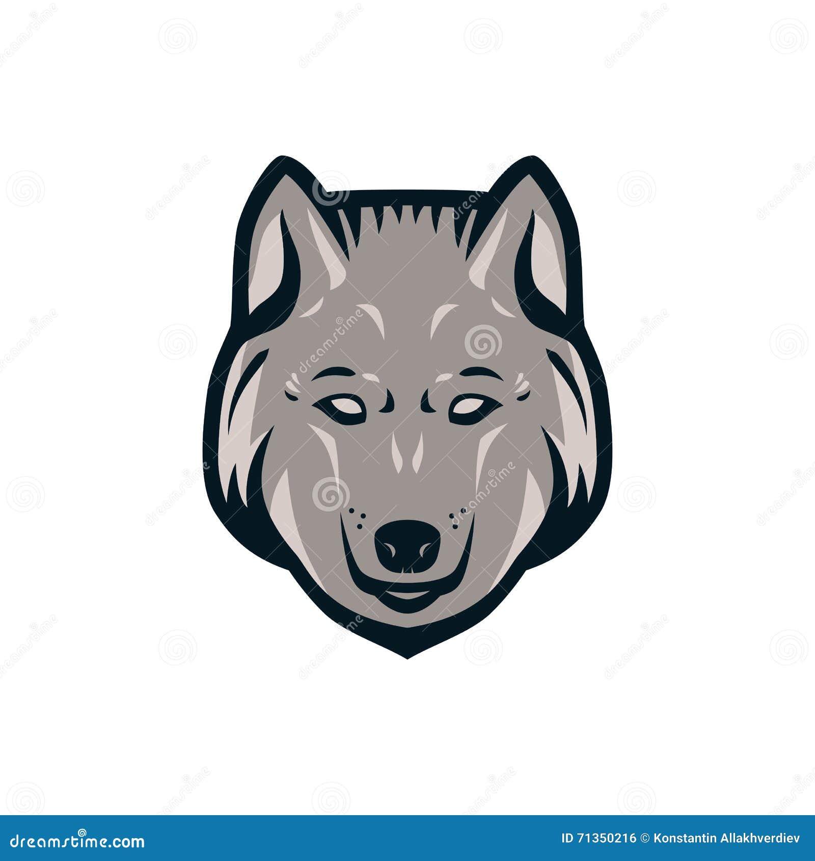 wolf head logo stock vector illustration of husky animal 71350216