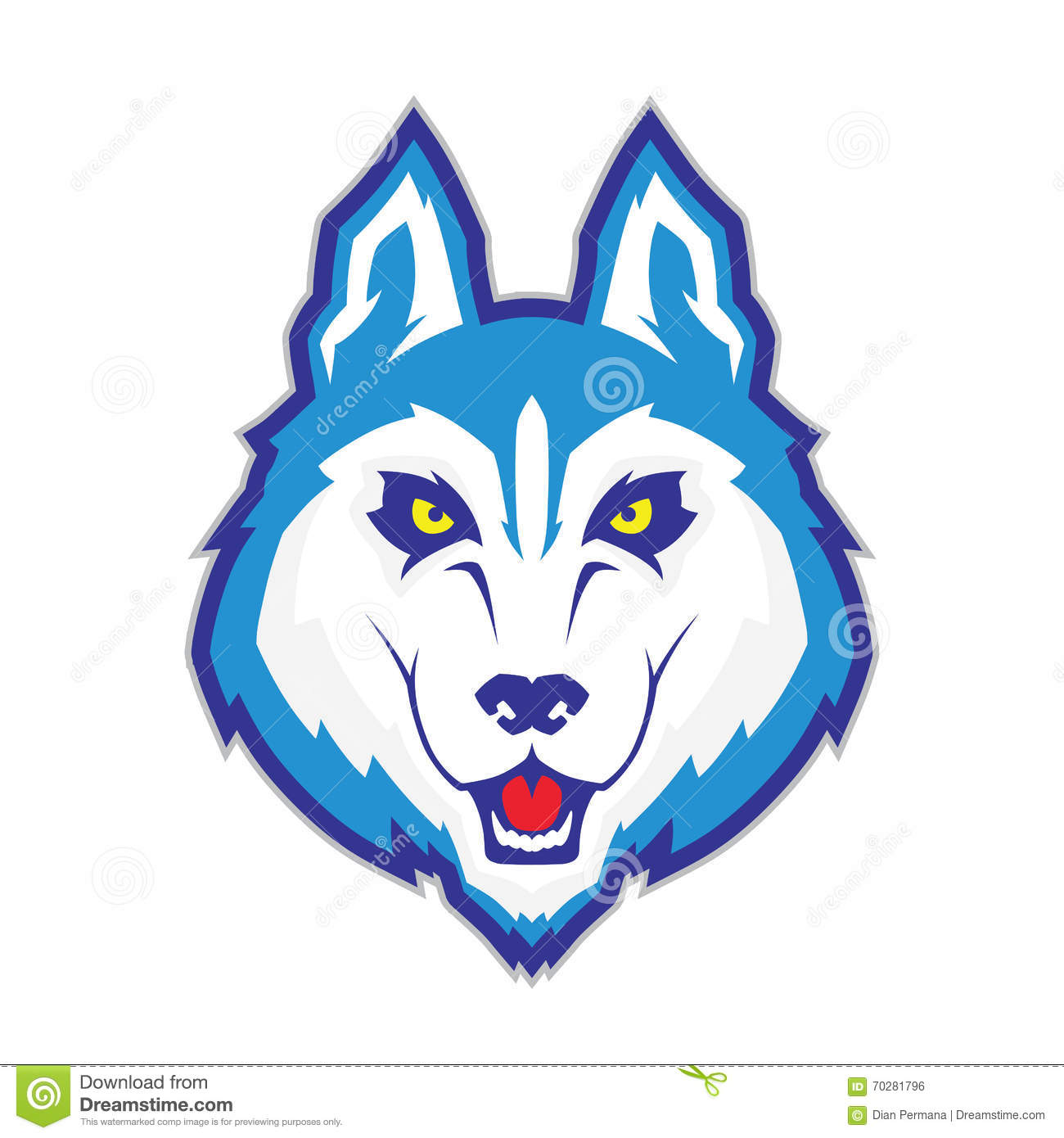 Wolf head mascot stock vector. Illustration of background ...