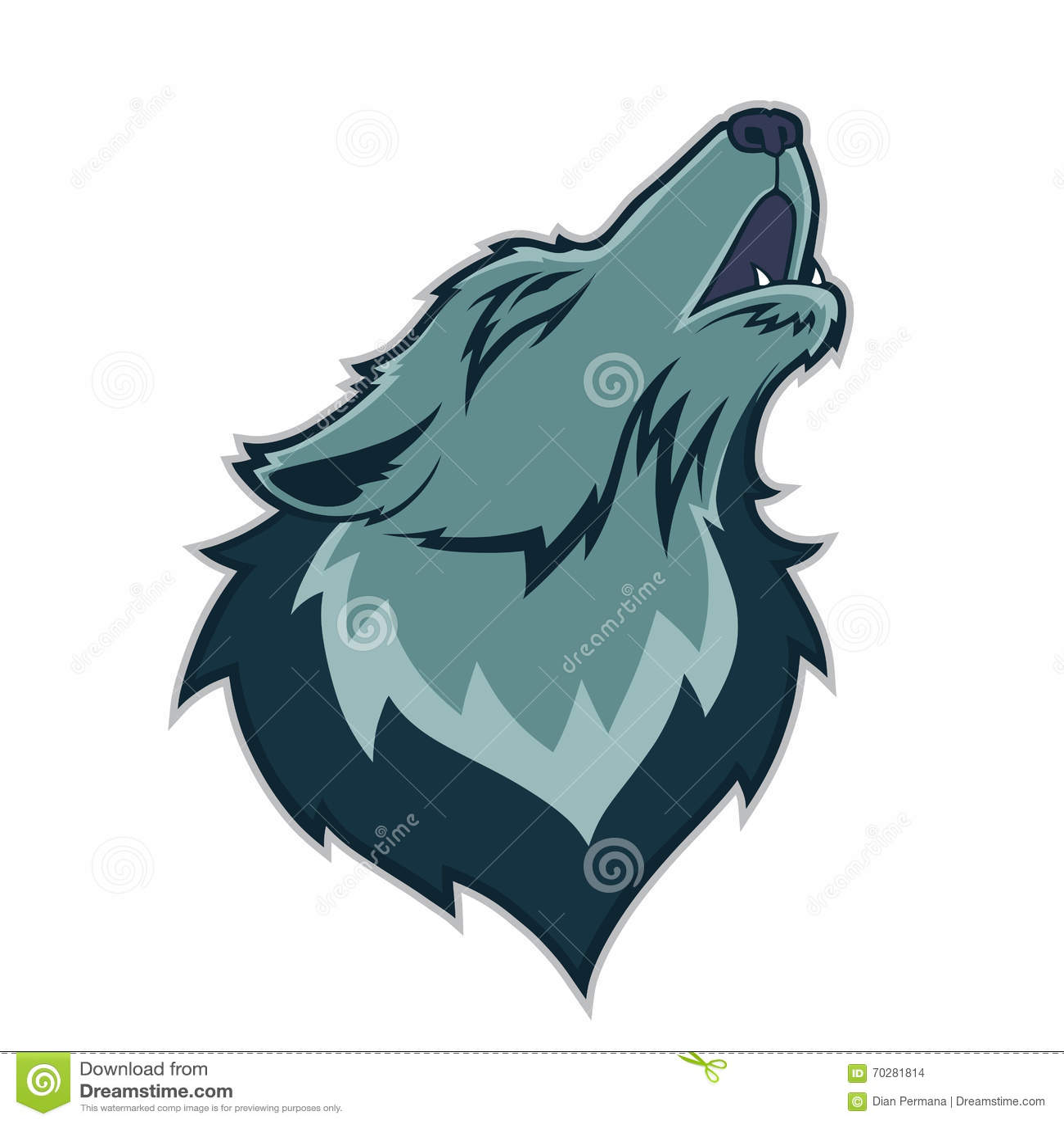 wolf illustration angry wolves  sport club or team emblem Baseball Logo Design Ideas Cool Youth Baseball Logos