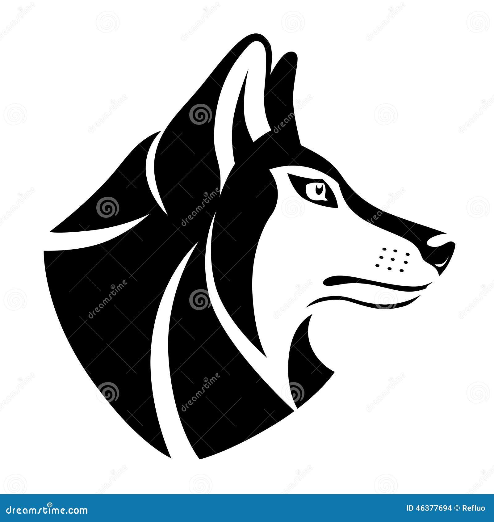 Wolf Head Symbol Stock Vector Illustration Of Serious 46377694