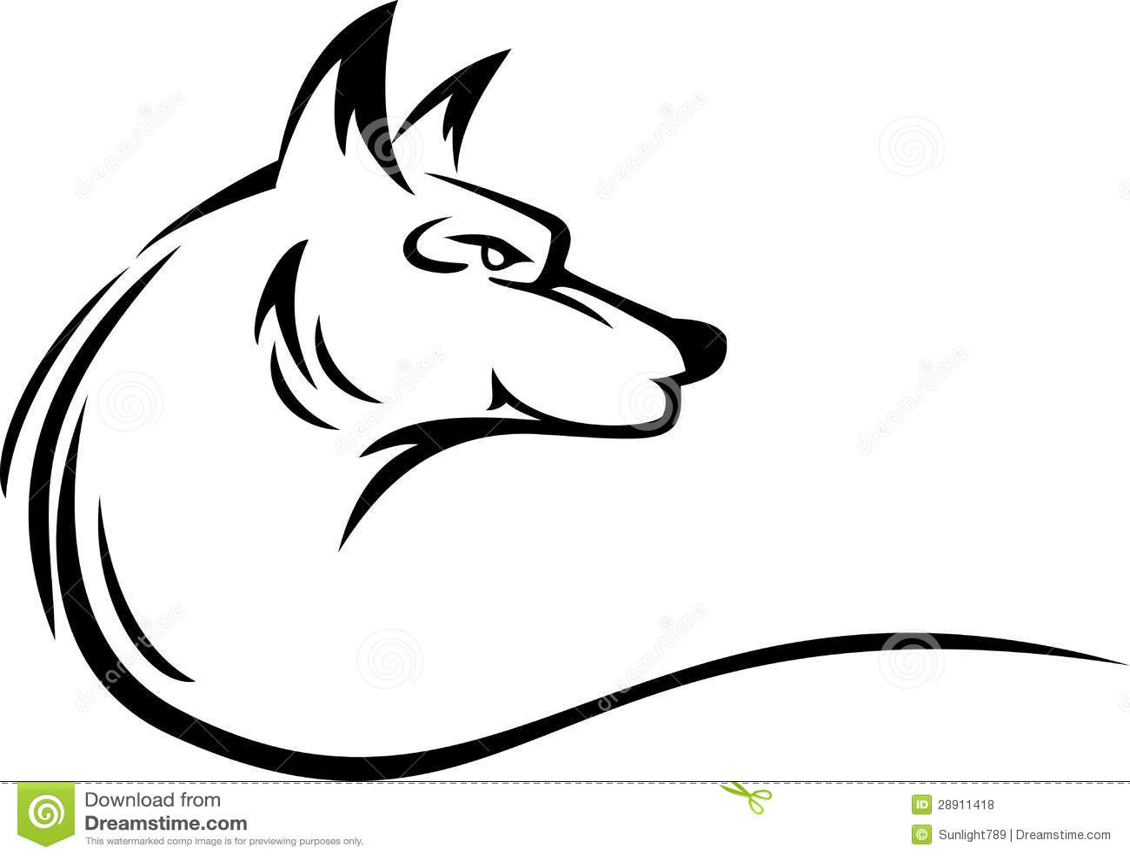 Wolf Head Tattoo Royalty Free Stock Photos Image 28911418