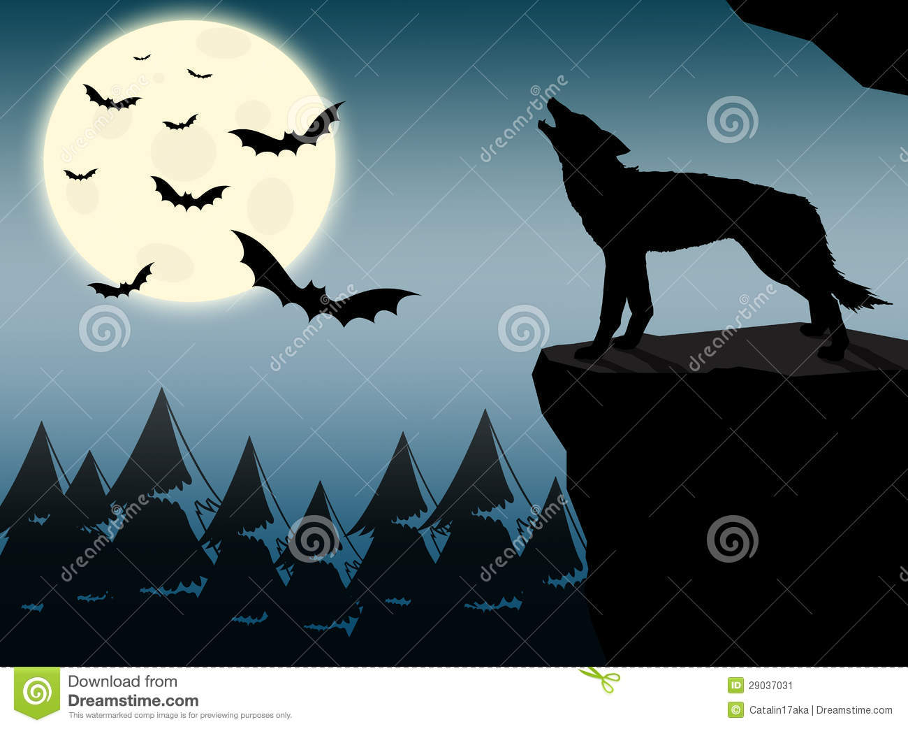 wolf howling at full moon stock image image 29037031