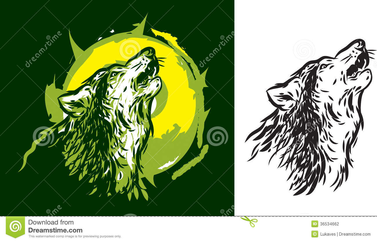 Wolf Howling Stock Vector Image Of Animal Face Head 36534662