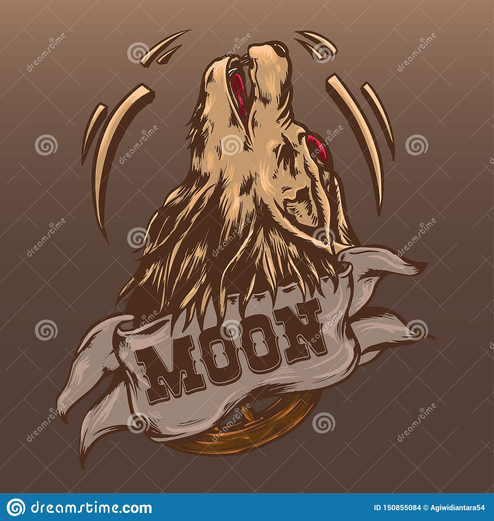Wolf Illustration Vector Design