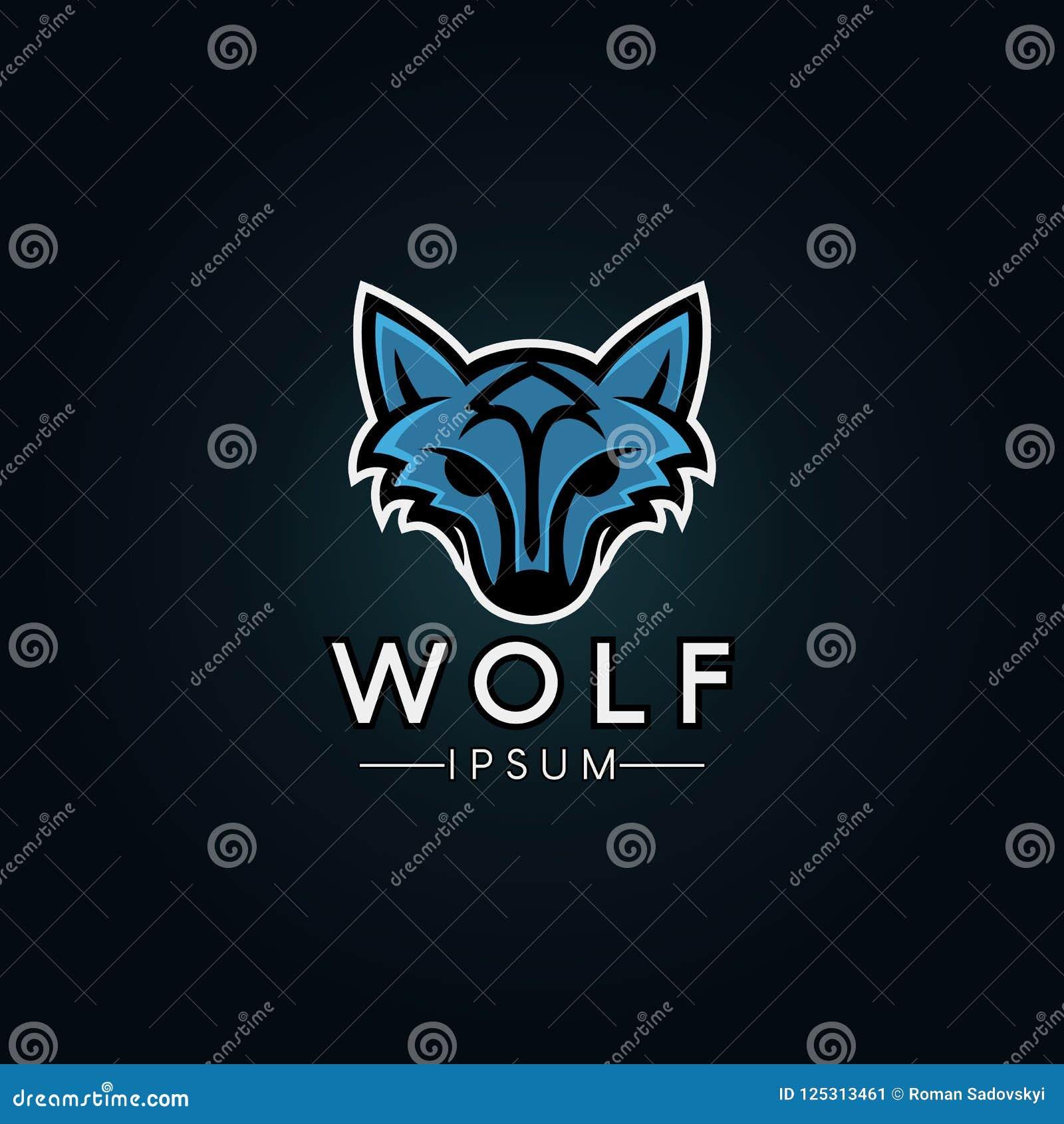 Wolf Logo Template Modernes Wolflogo für ein Sportteam
