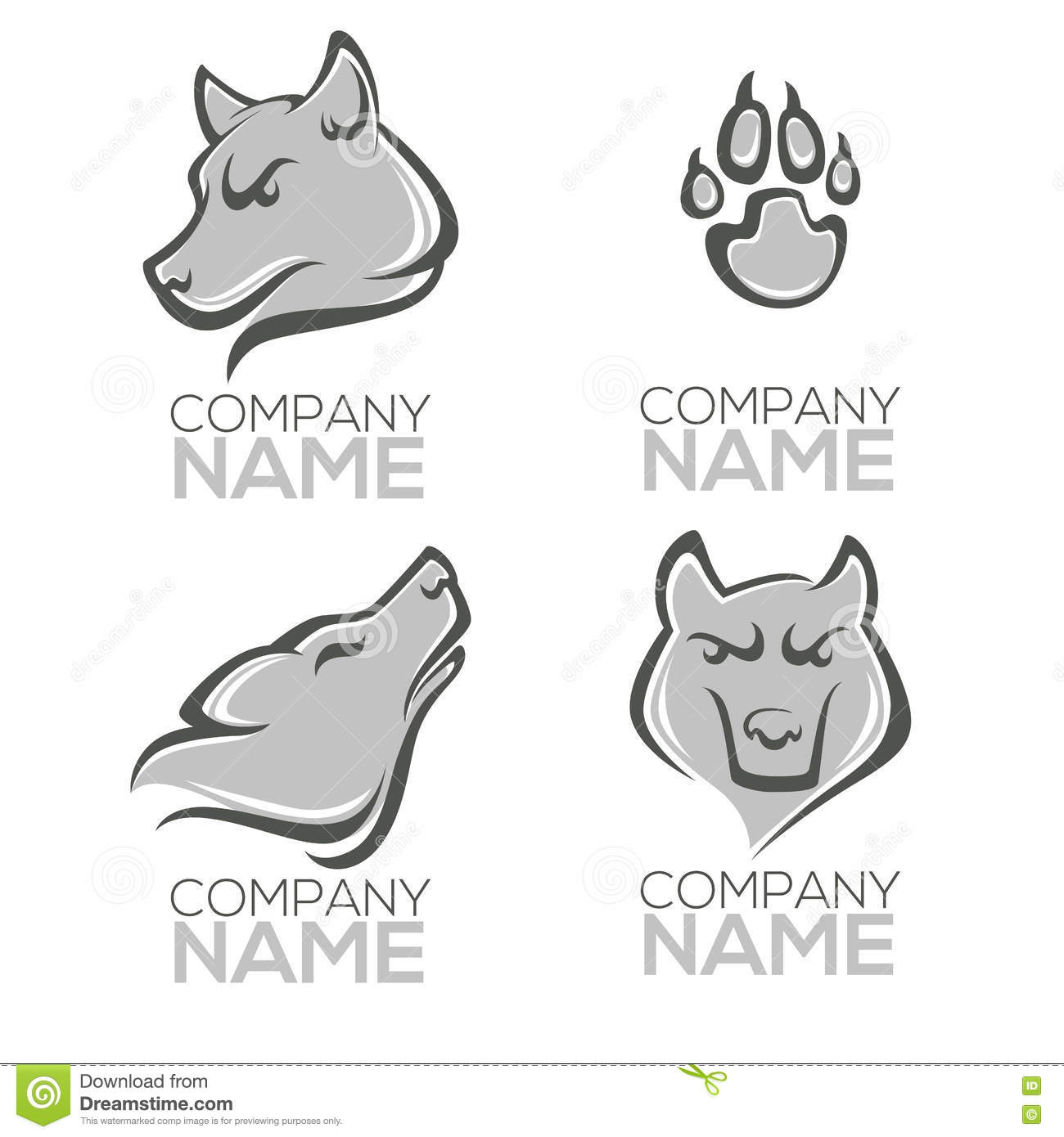 Wolf Logo Stock Vector Illustration Of Loneliness Strength 75535075
