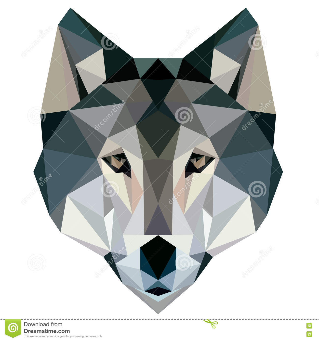 Wolf Low Poly Design Geometric, Vector Animal Illustration ...