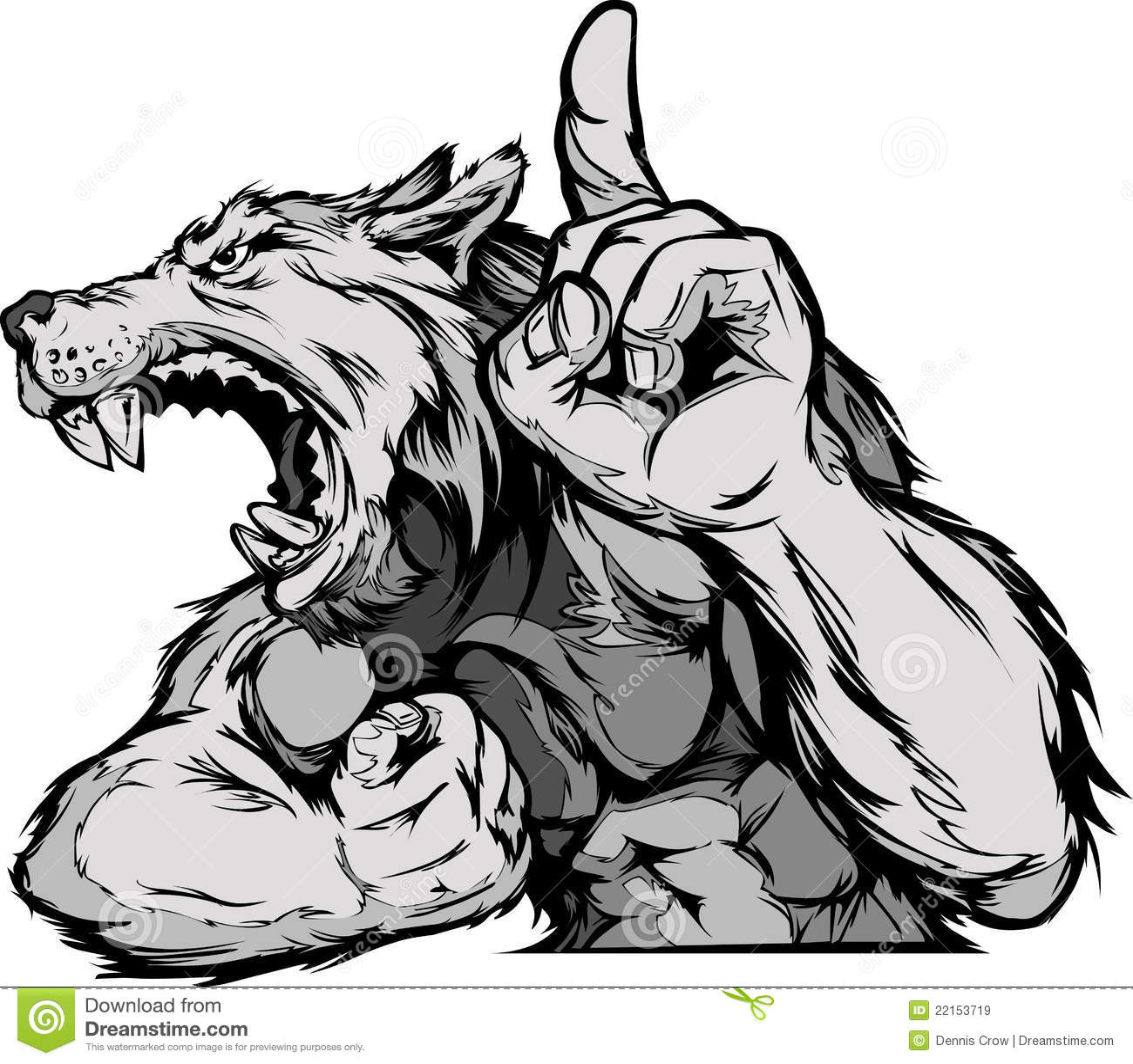 Wolf Mascot Body Cartoon