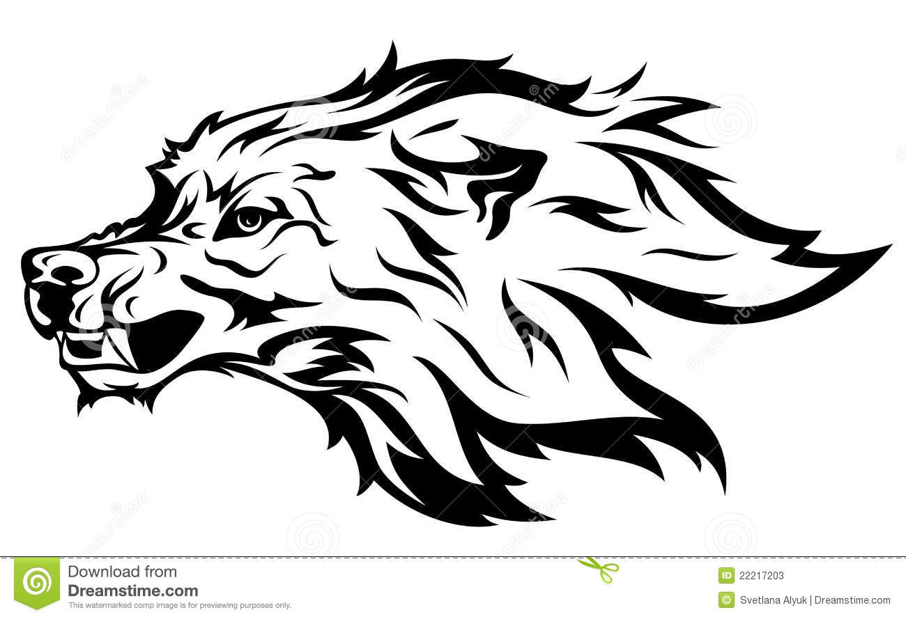 Wolf Mascot Vector Stock Photos - Image: 22217203 Angry Black Wolf Drawing