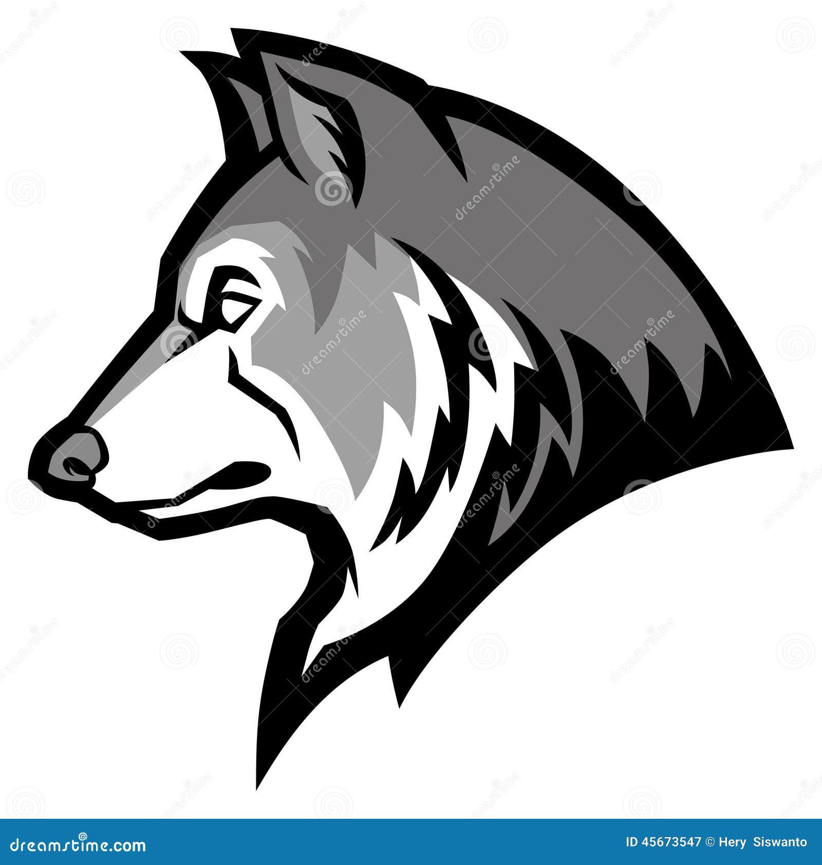 Wolf Mascot Stock Vector - Image: 45673547
