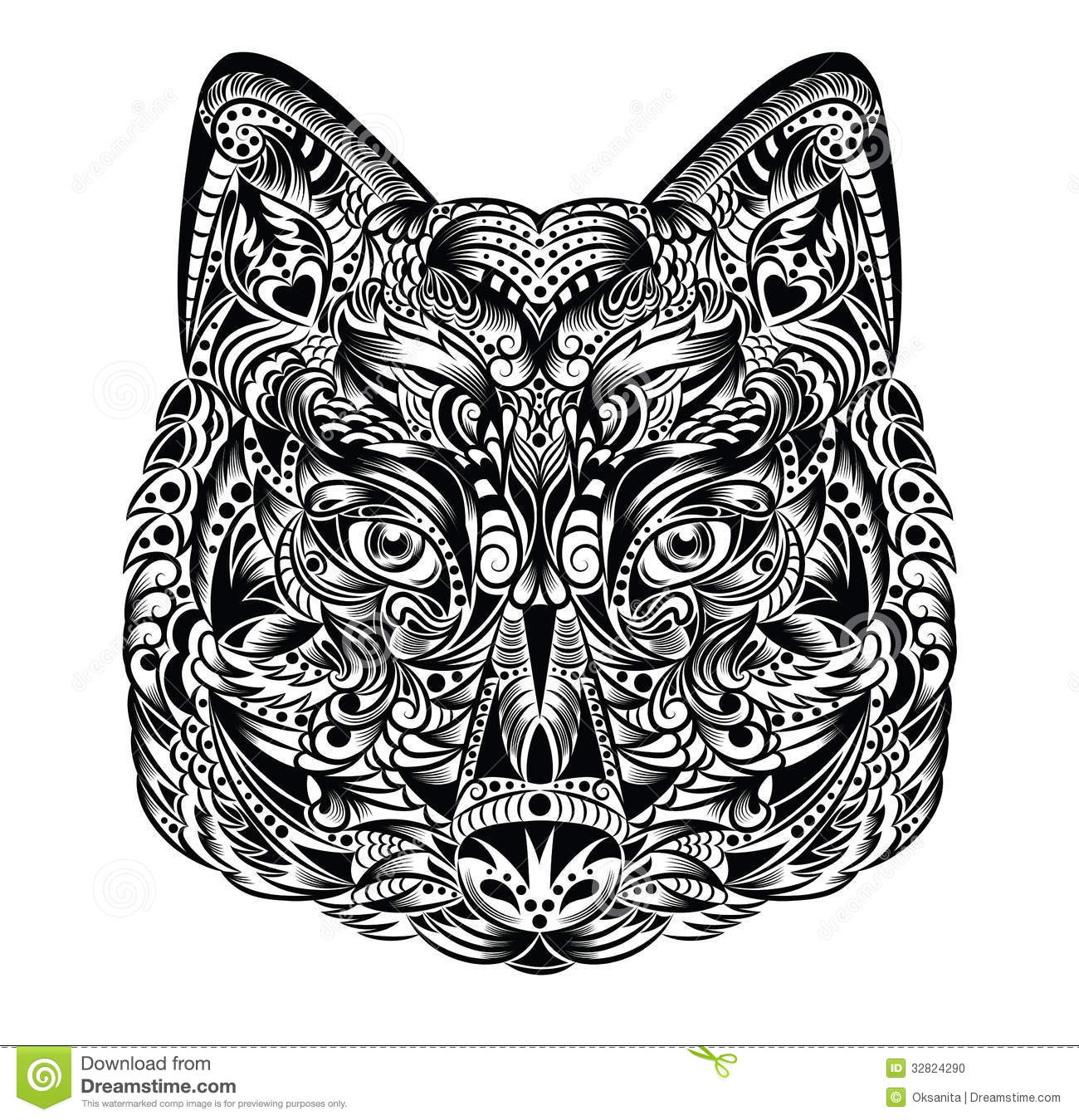 Wolf Shape Template, Crafts