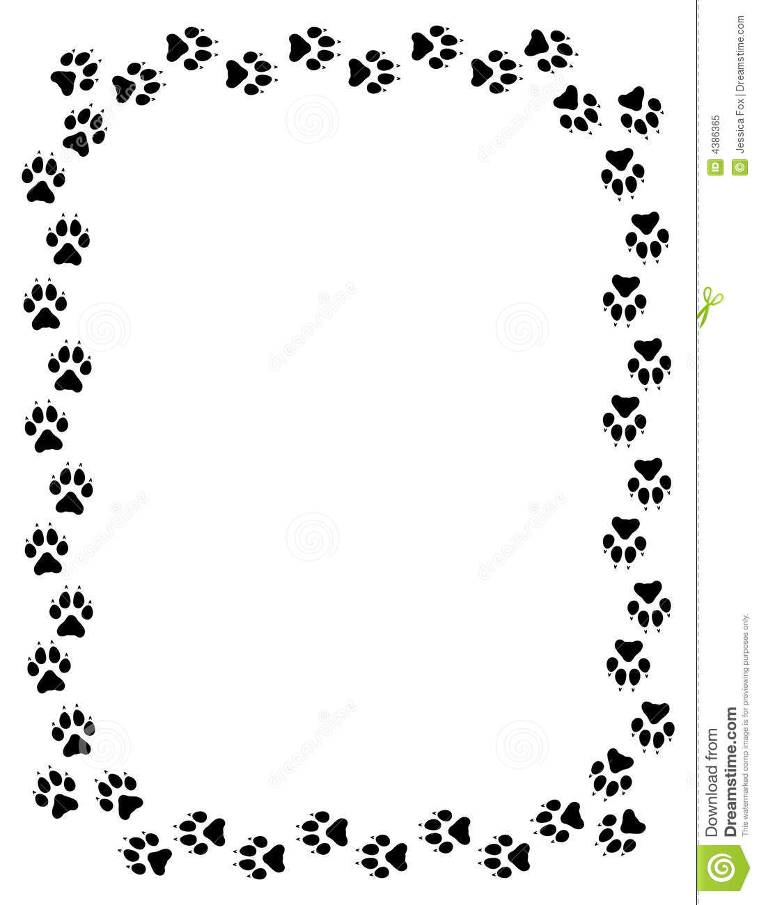 Wolf Paw Print Border Royalty Free Stock Photo - Image: 4386365