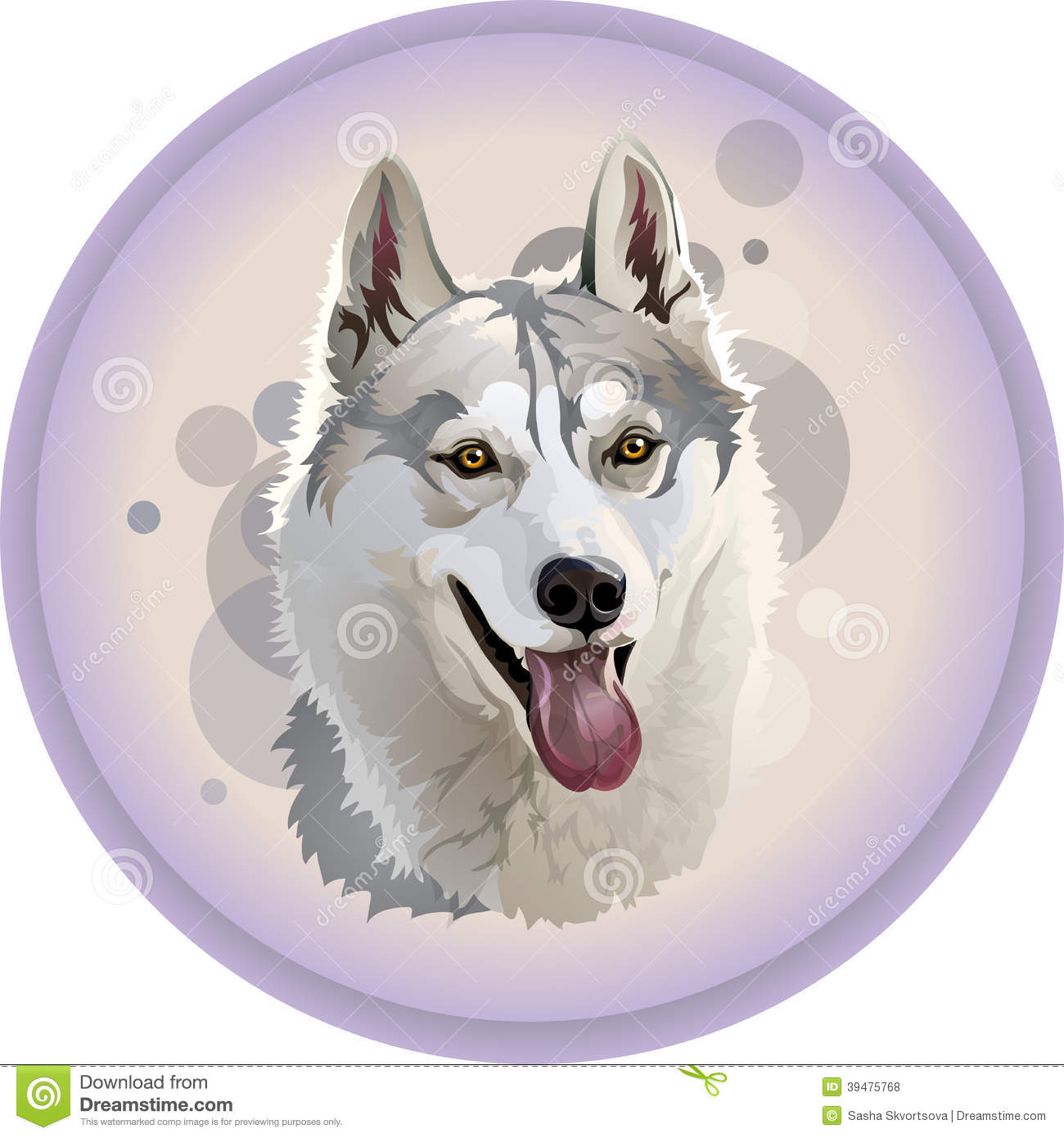wolf s head in a circle stock vector image 39475768 clipart wolf head without background free clipart wolf heads