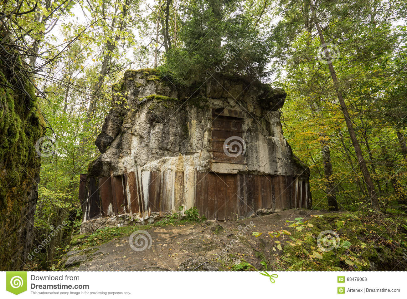 Wolf`s Lair, Adolf Hitler`s Bunker, Poland. First Eastern Front military headquarters, World War II. Complex blown up, abandoned