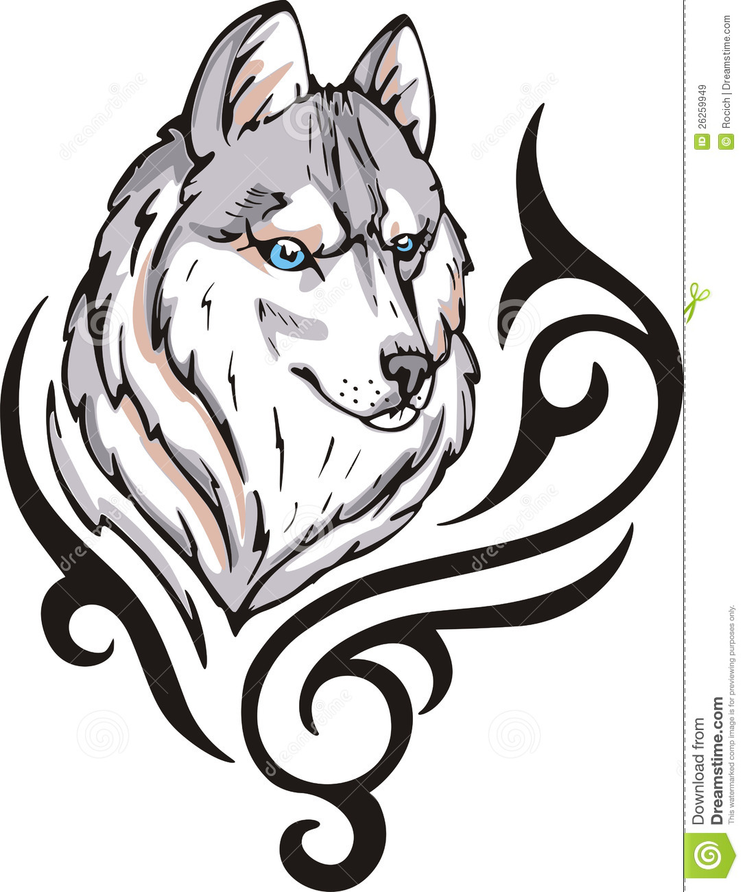 Wolf tattoo royalty free stock images image 26259949