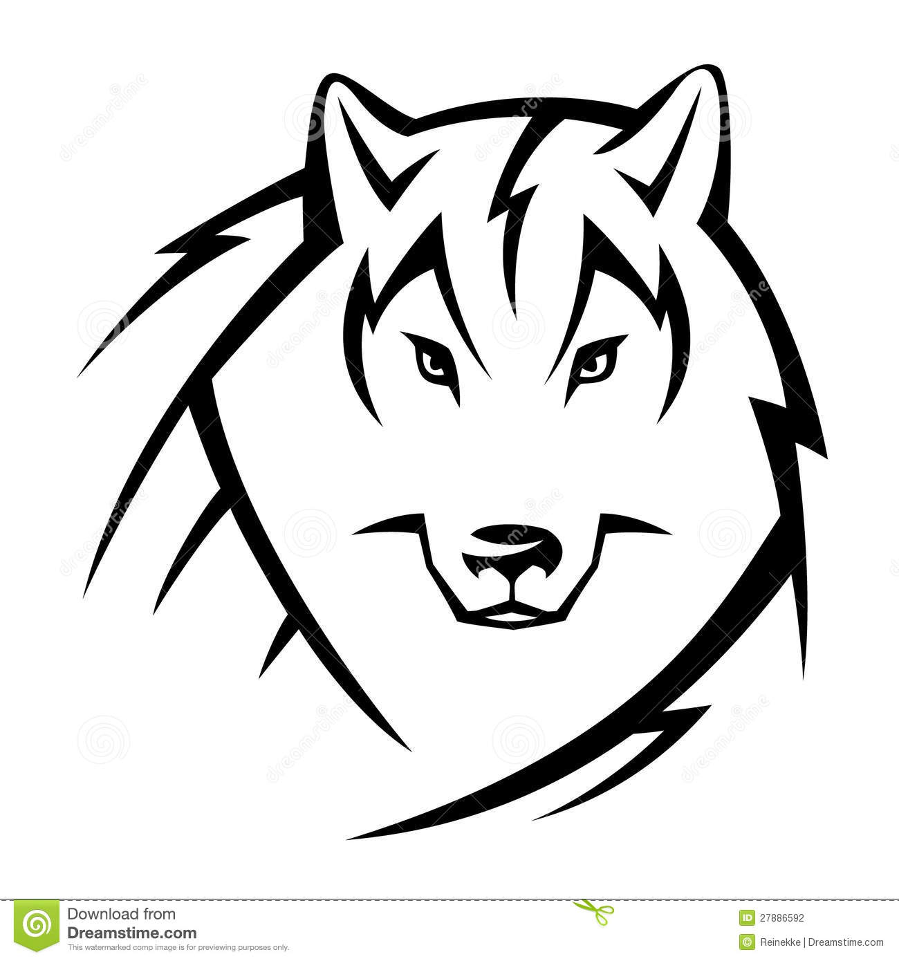 Wolf Tattoo Stock Photography Image 27886592