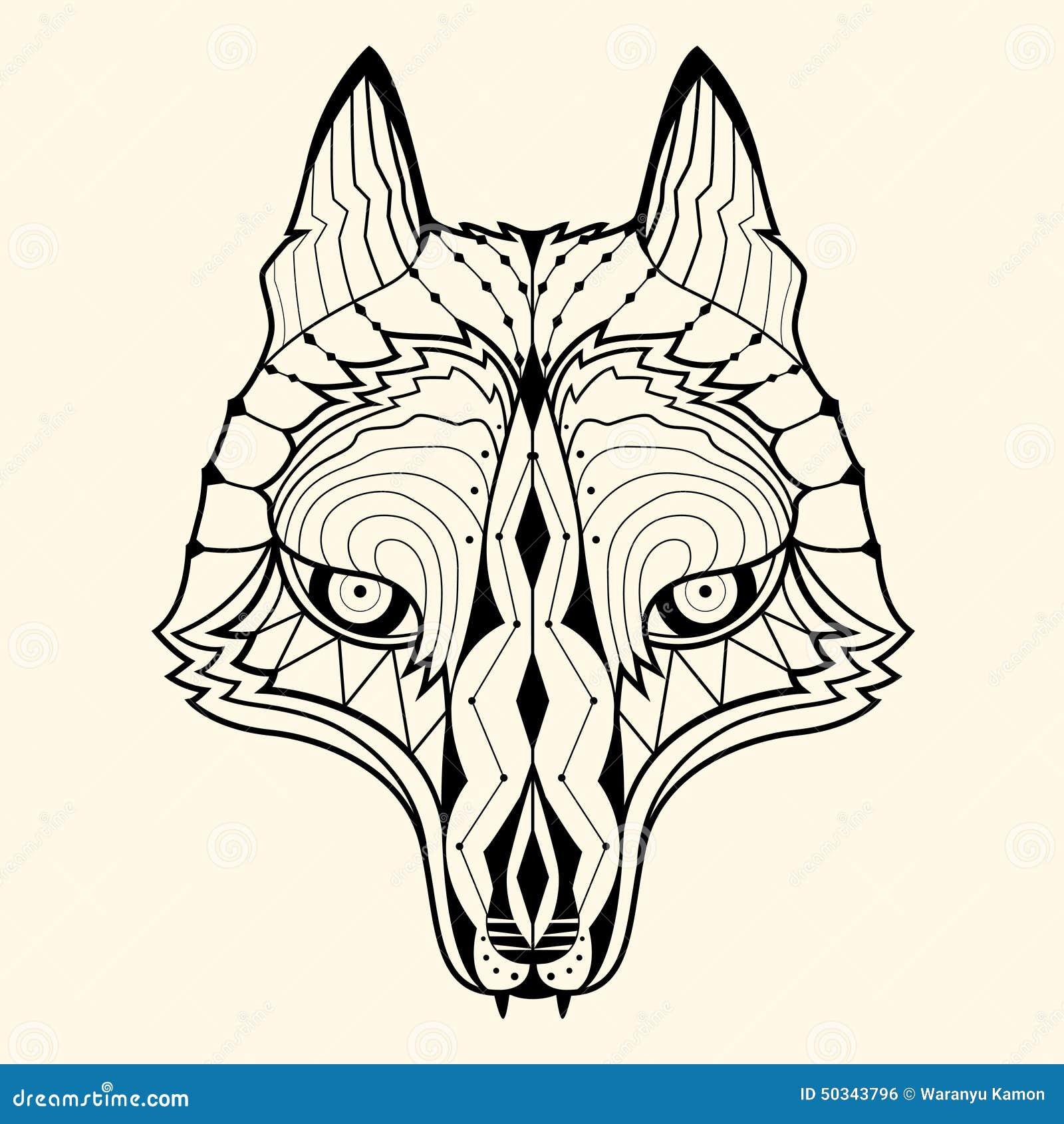 Vector Illustration Web Designs: Wolf Zentangle Stock Vector. Illustration Of Graphic