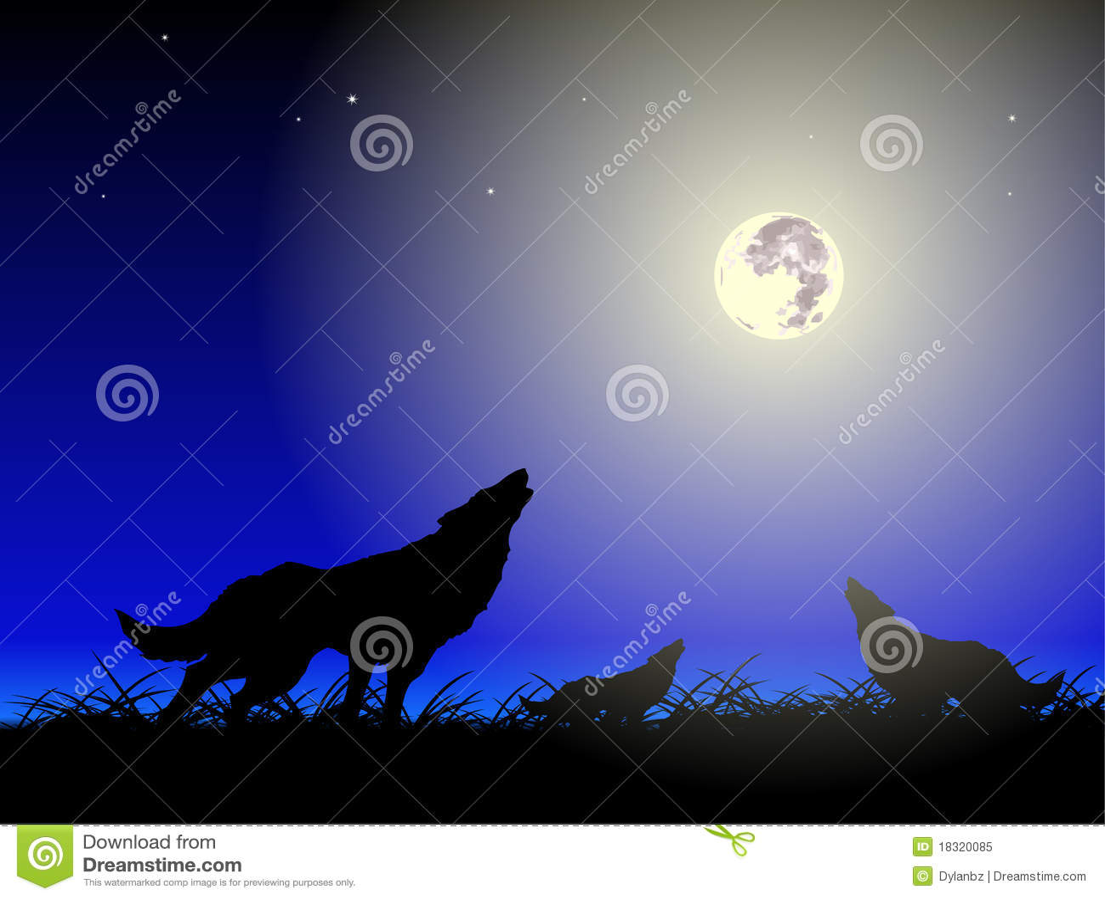 Wolfs en maan