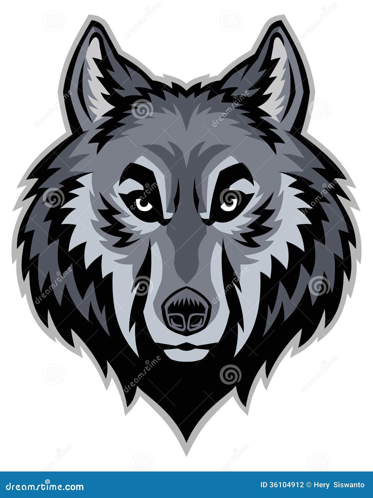Wolfs hoofdmascotte