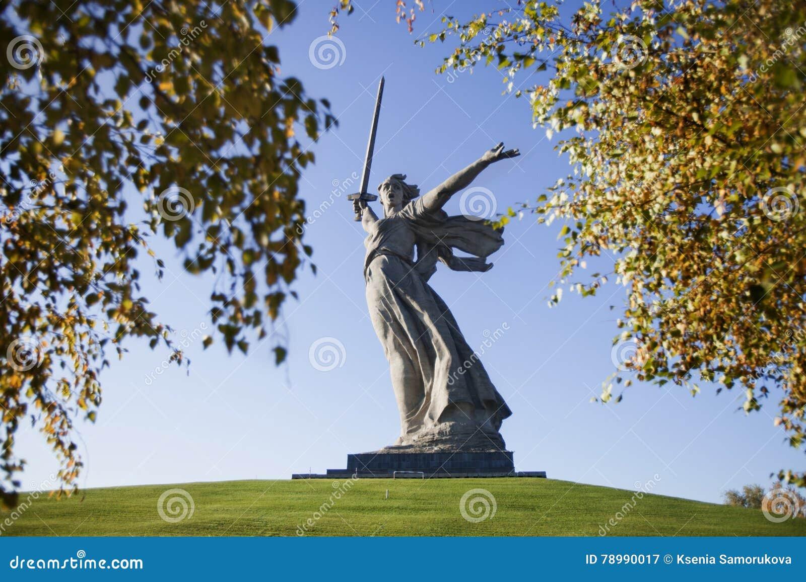 Wolgagrad skulptur