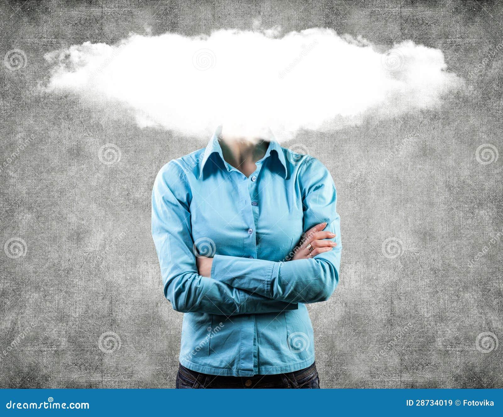 Wolke auf einem Kopf