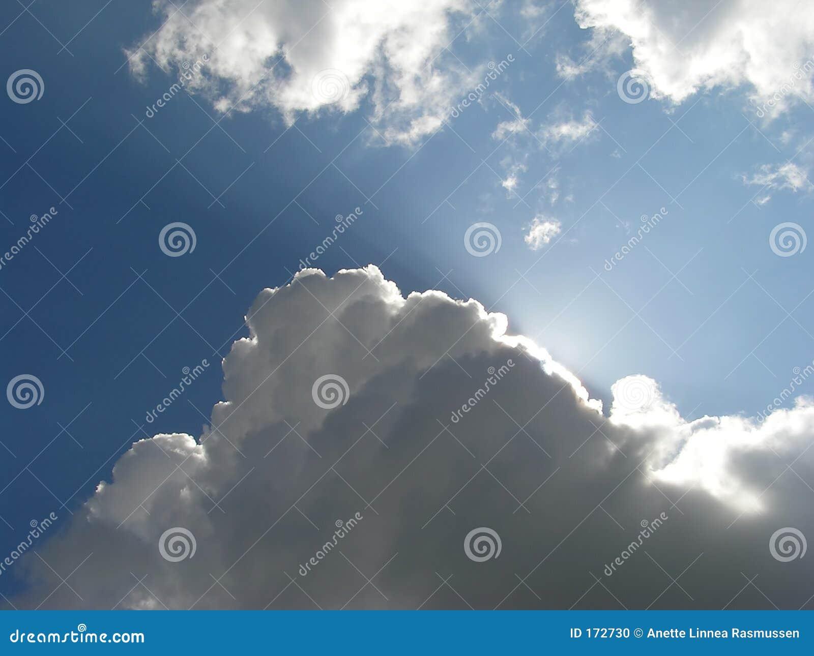 Wolken en zonlicht