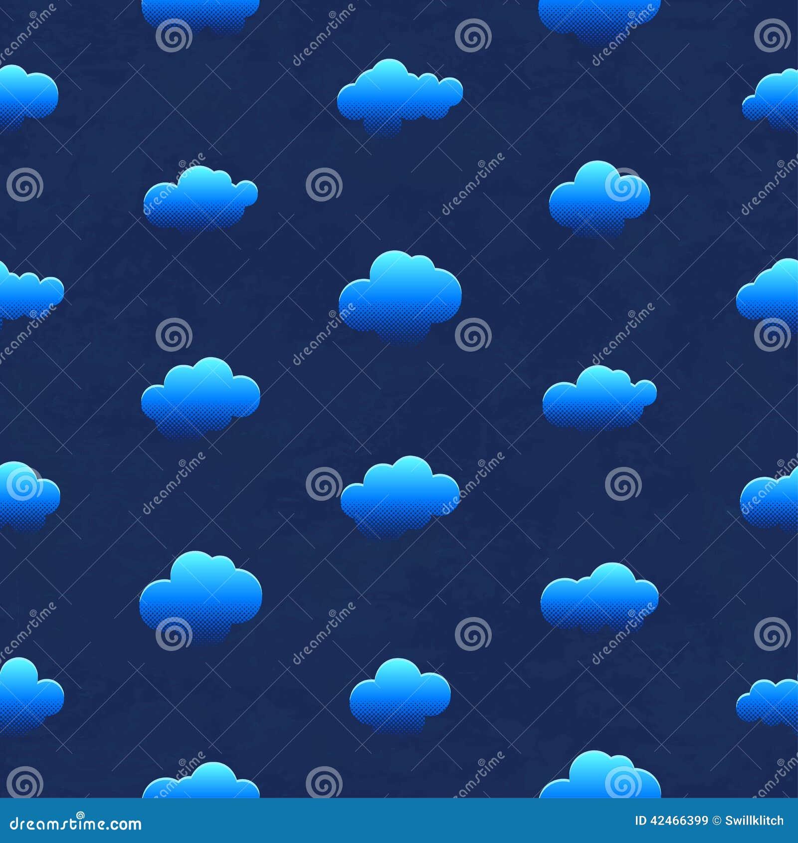 Wolken im nächtlichen Himmel Nahtloses Muster