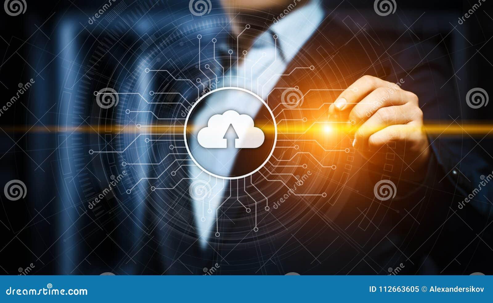 Wolken-Komputertechnologie-Internet-Speicher-Netz-Konzept