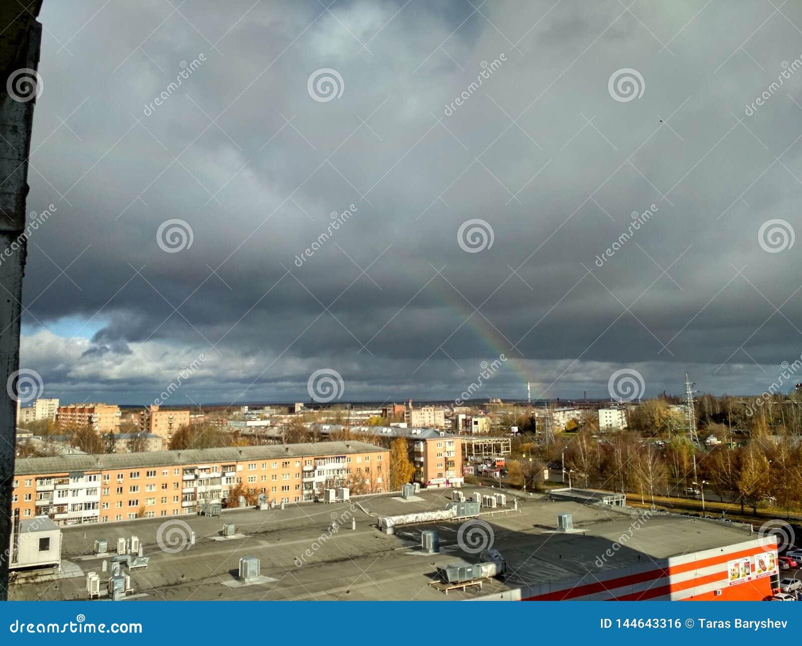Wolken over de stad