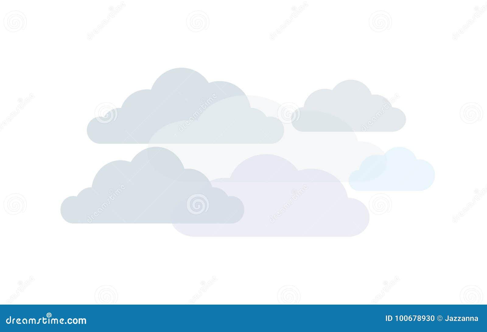 Wolken in schaduwen van grijs