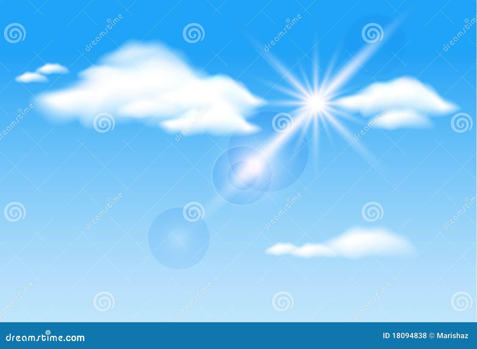Wolken und Sonnenschein