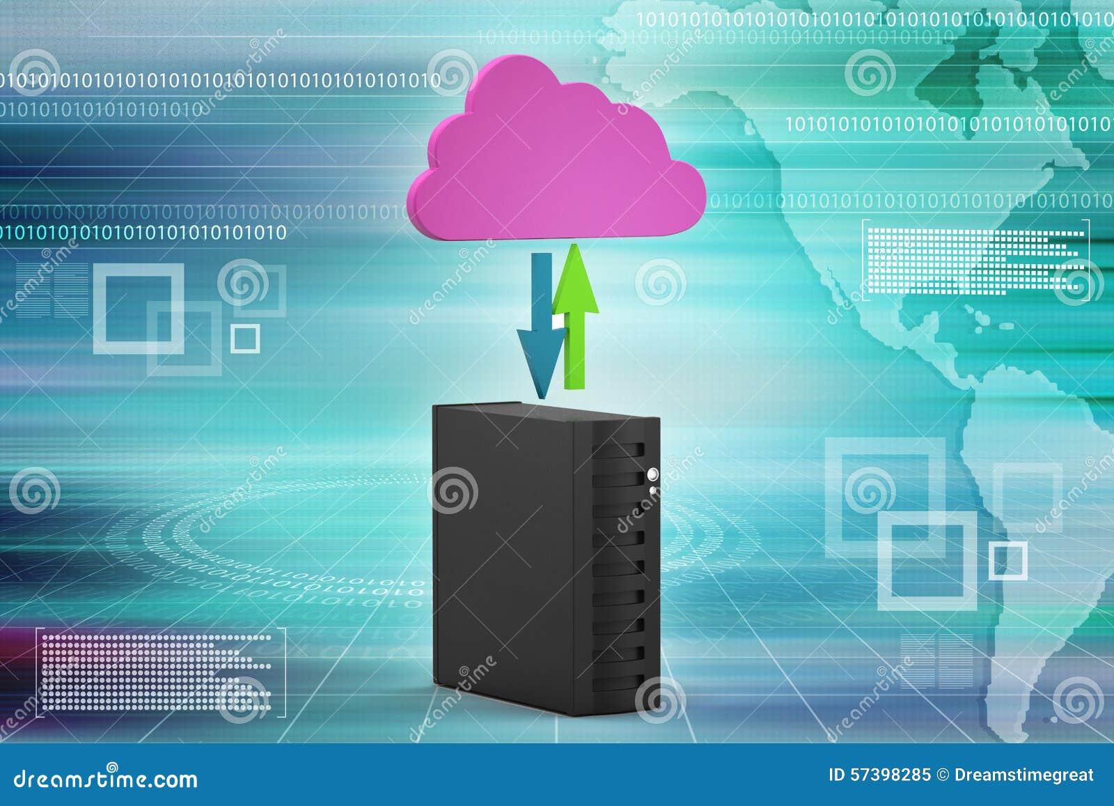 Wolkenconcept met server