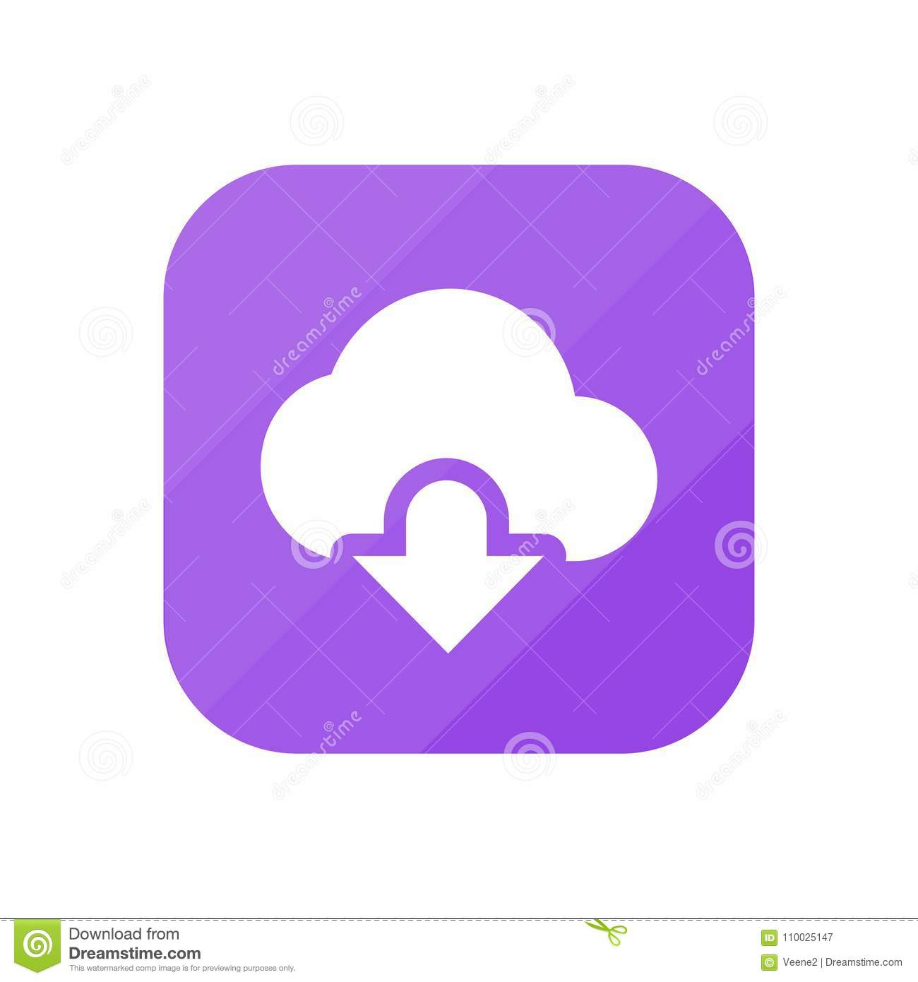 Wolkendownload - App Pictogram