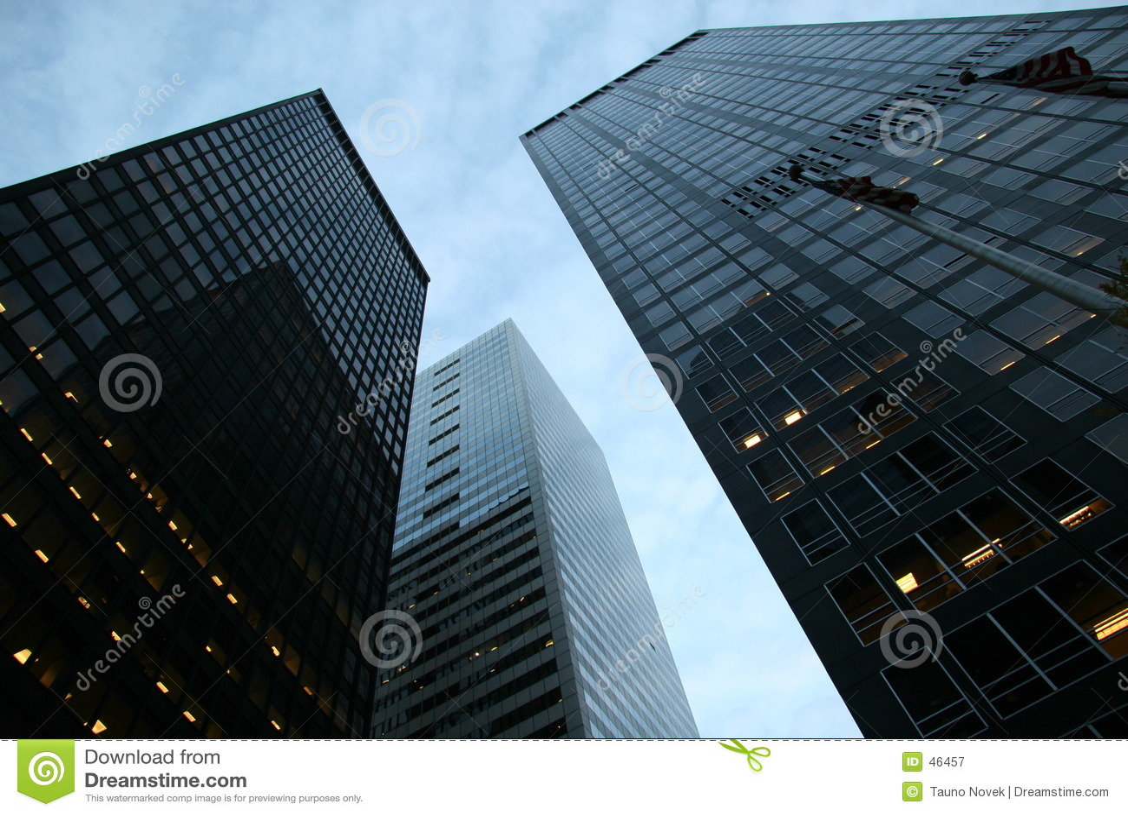 Wolkenkratzer am Finanzbezirk