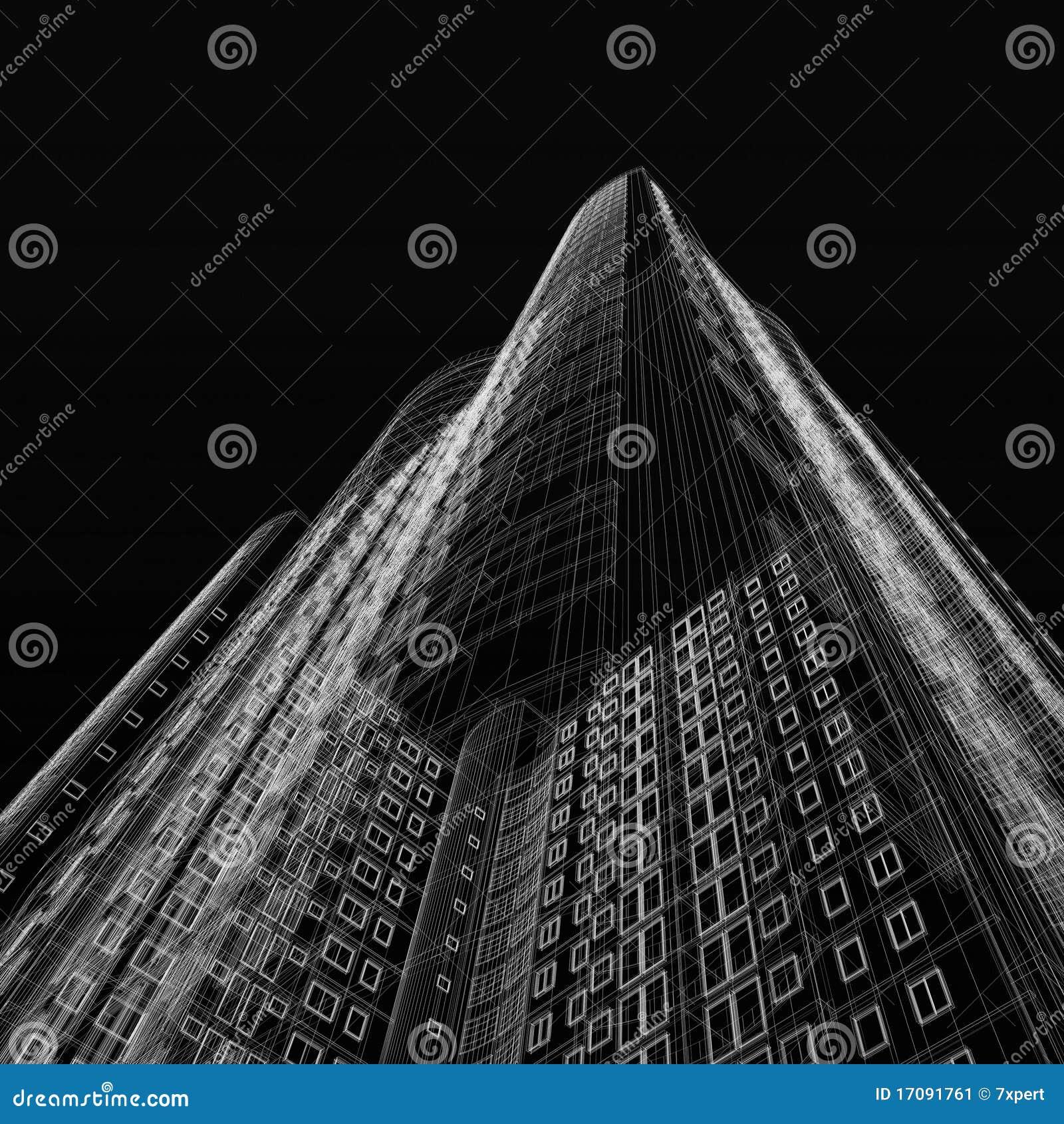 Wolkenkratzerlichtpause