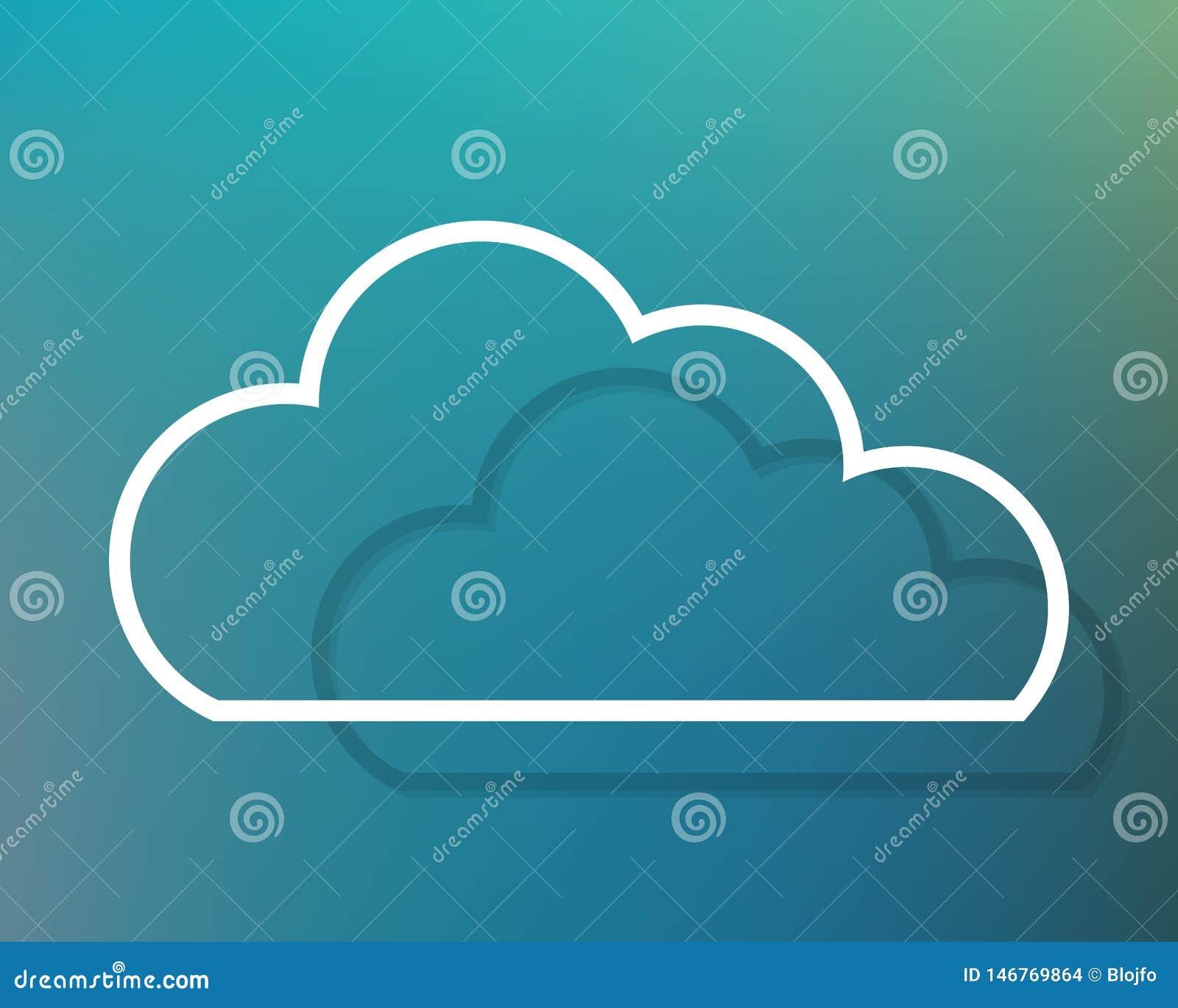 Wolkenschattenbild mit Tiefe