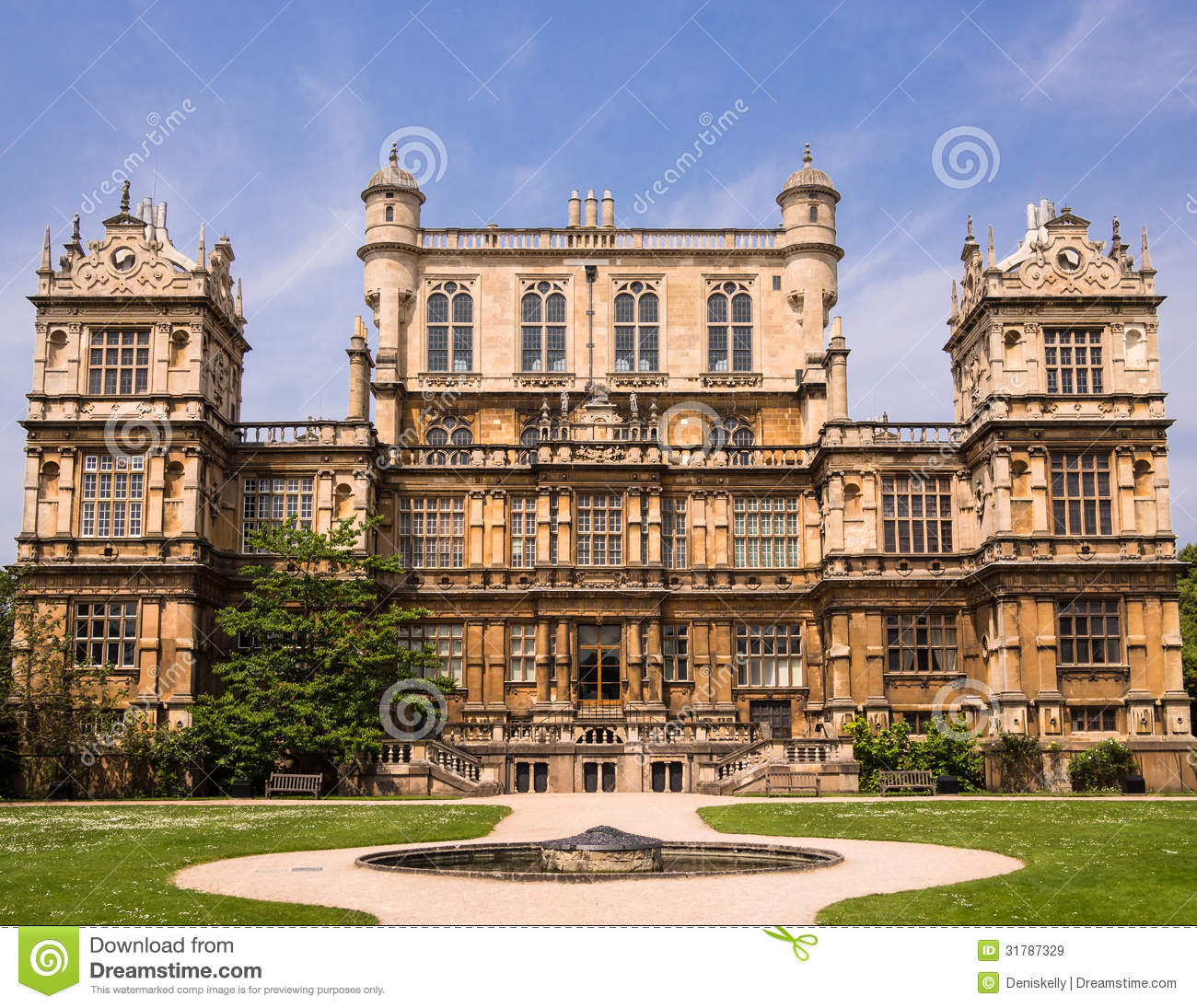Wollaton Hall Mansion Nottingham England Royalty Free Stock Images ...