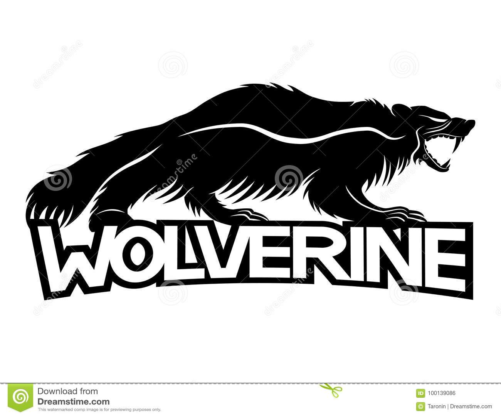 Wolverine dierlijk teken