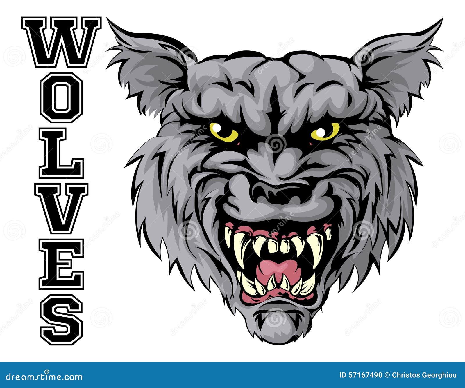 vector wild wolf for tattoo t shirt sport logo cartoon vector 84579653. Black Bedroom Furniture Sets. Home Design Ideas